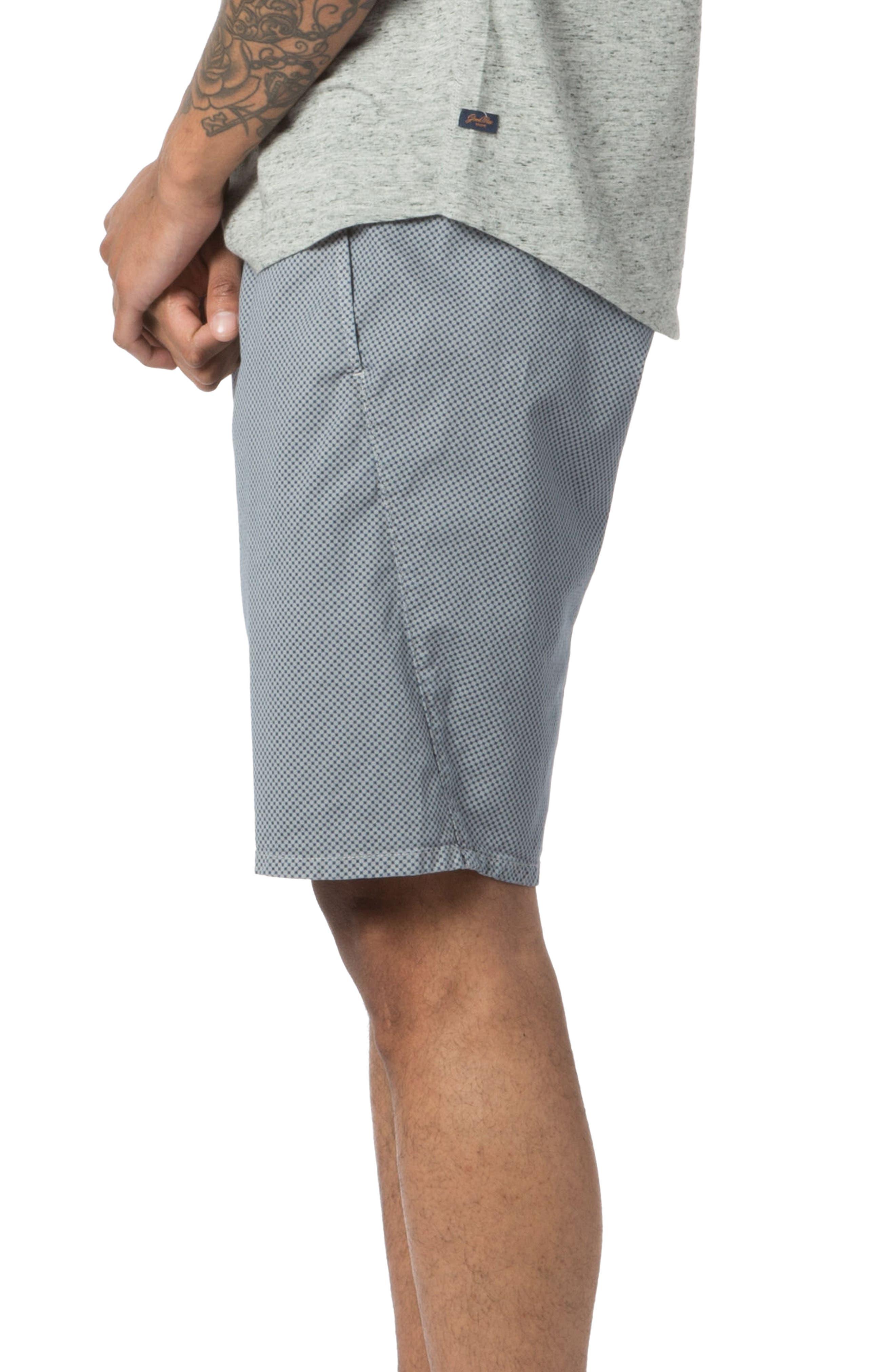 Modern Fit Micro Pattern Chino Shorts,                             Alternate thumbnail 3, color,                             Alloy Micro Cross Dot