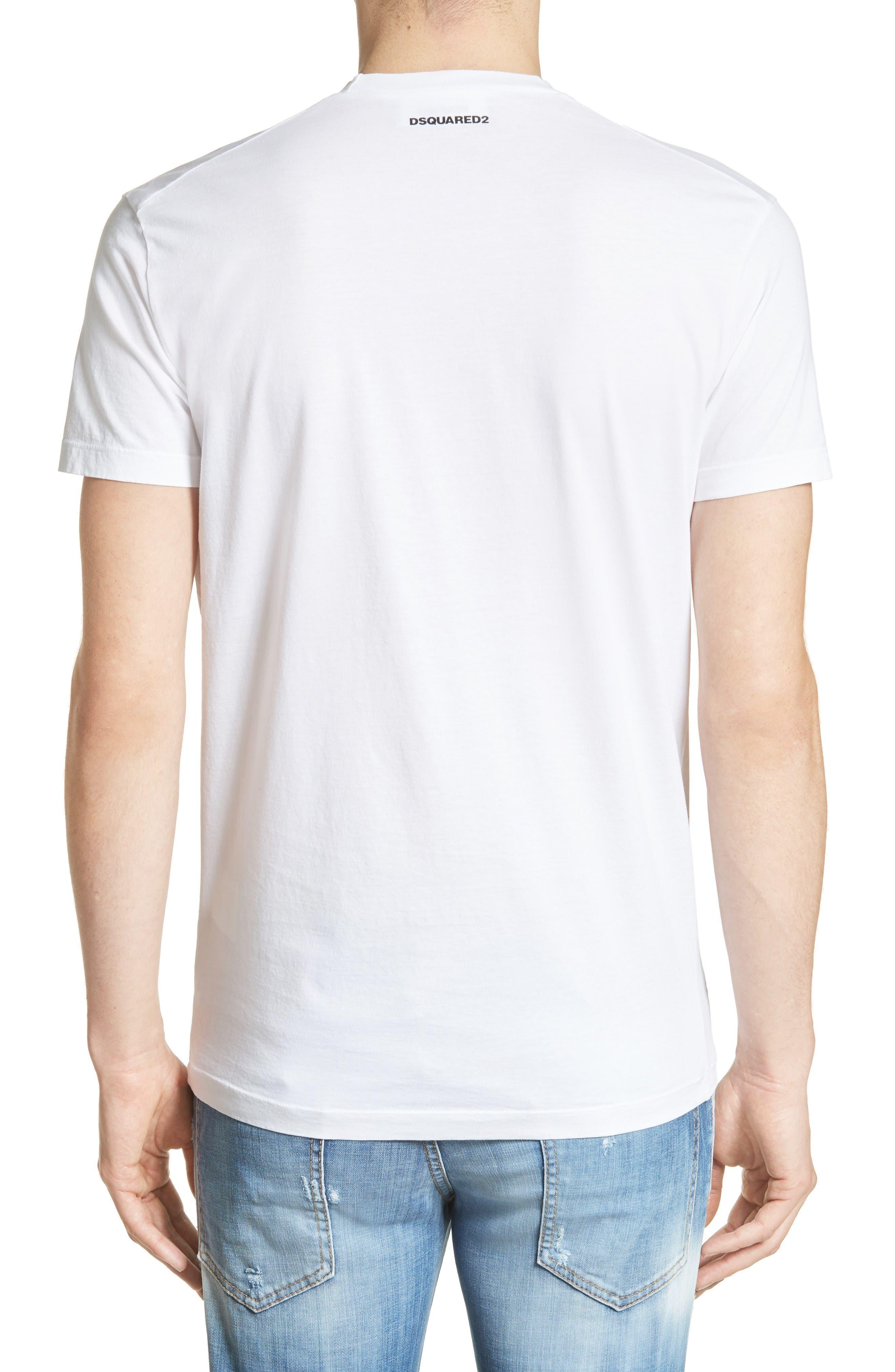 Alternate Image 2  - Dsquared2 Sketch Screenprint T-Shirt