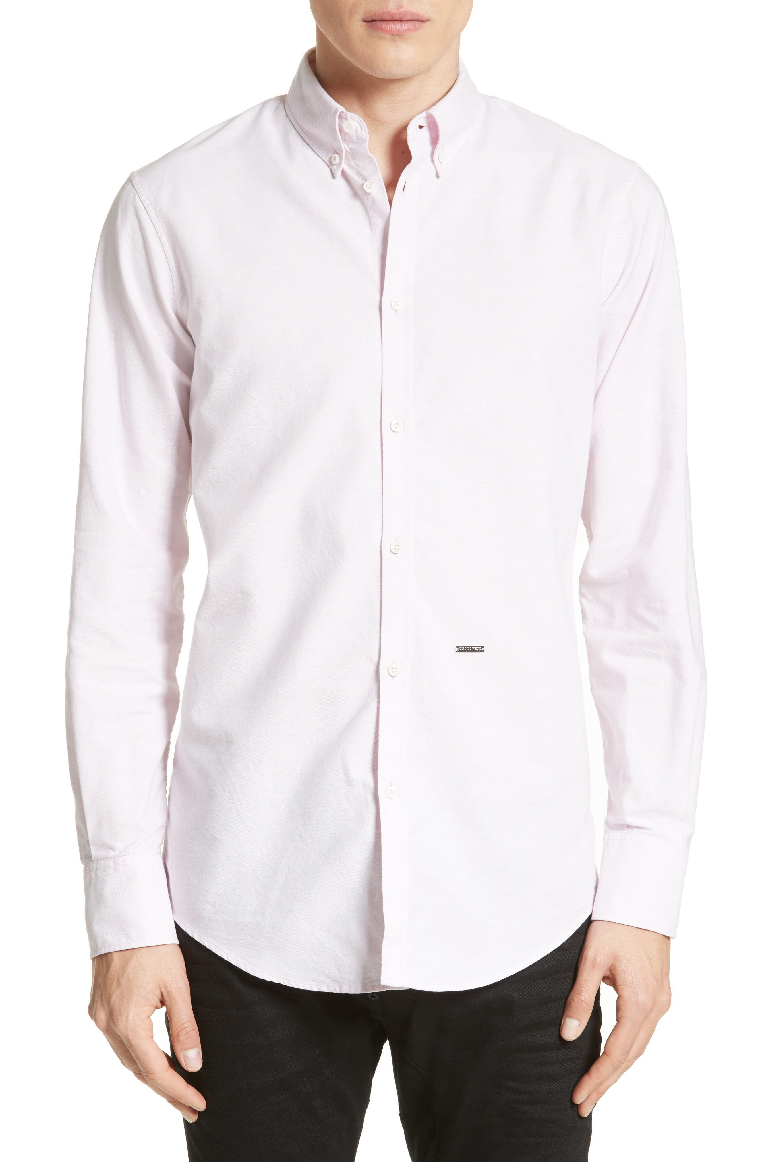 Extra Trim Fit Oxford Sport Shirt,                         Main,                         color, Pink