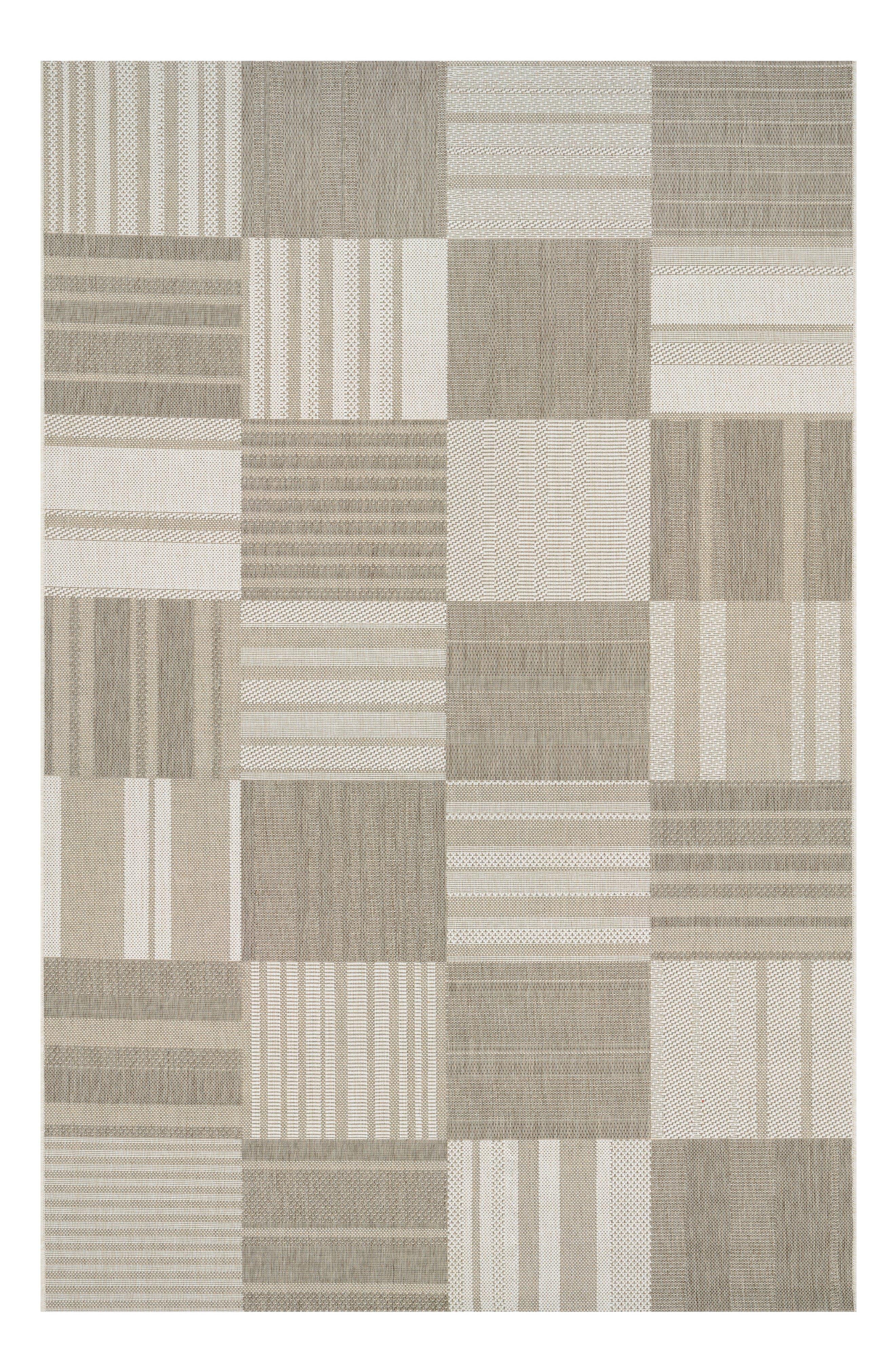 Patchwork Indoor/Outdoor Rug,                         Main,                         color, Beige/ Ivory