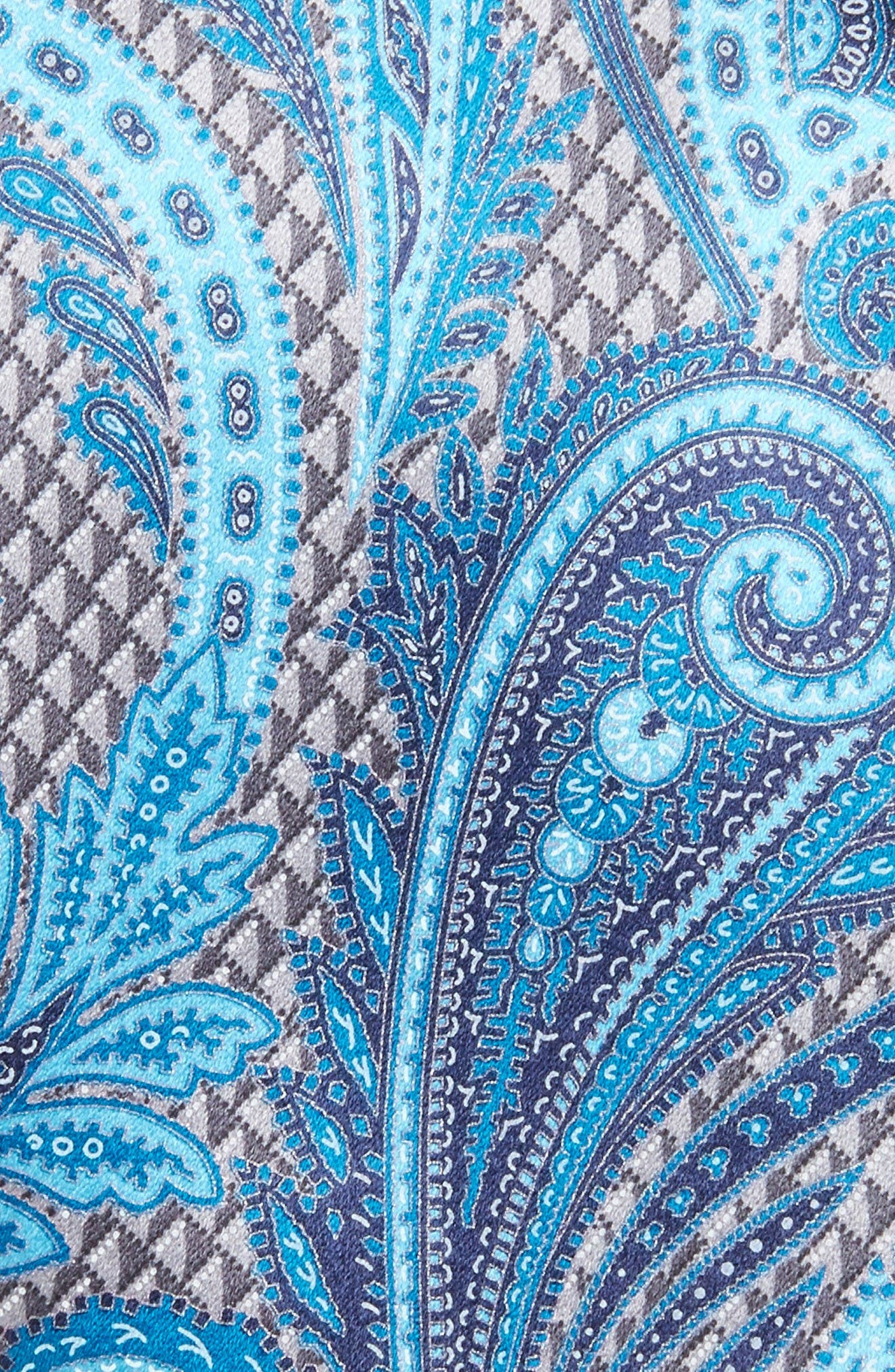 Paisley Silk Tie,                             Alternate thumbnail 2, color,                             Silver