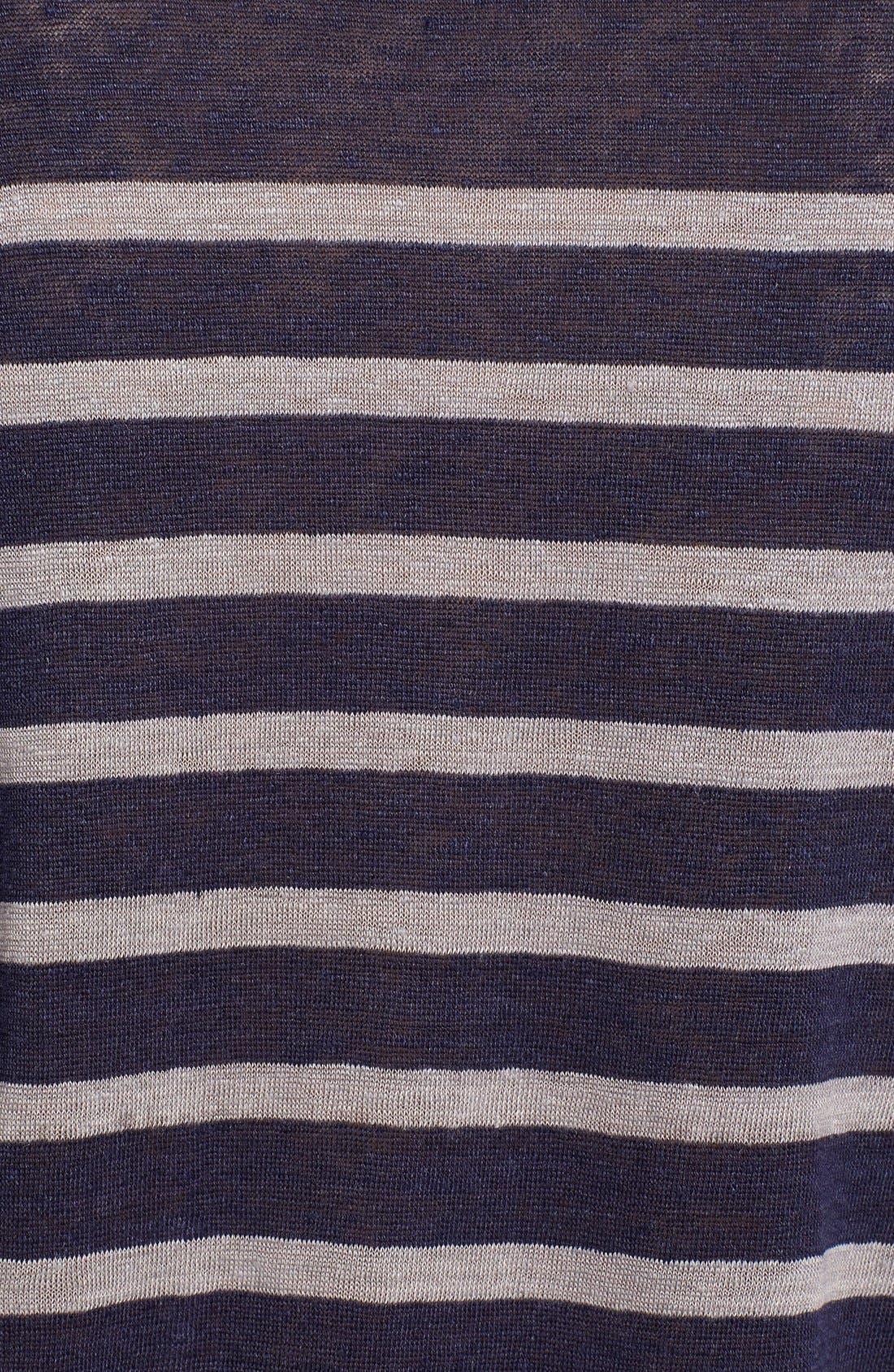 Alternate Image 3  - Charlotte Gainsbourg for Current/Elliott 'The Short Sleeve Linen Stripe' Tee