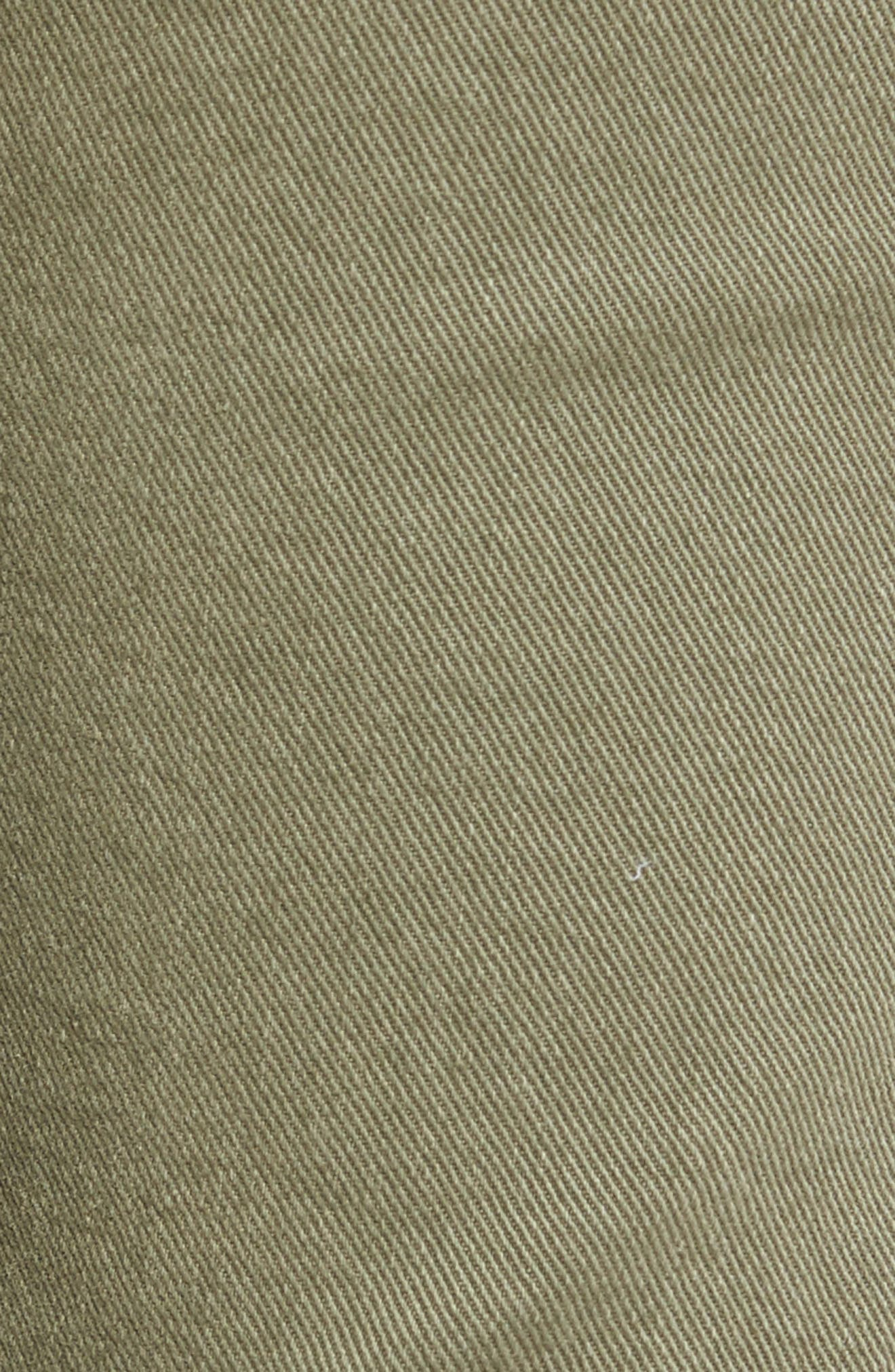 Josefina Destroyed Boyfriend Jeans,                             Alternate thumbnail 5, color,                             Sun Bleached Olive
