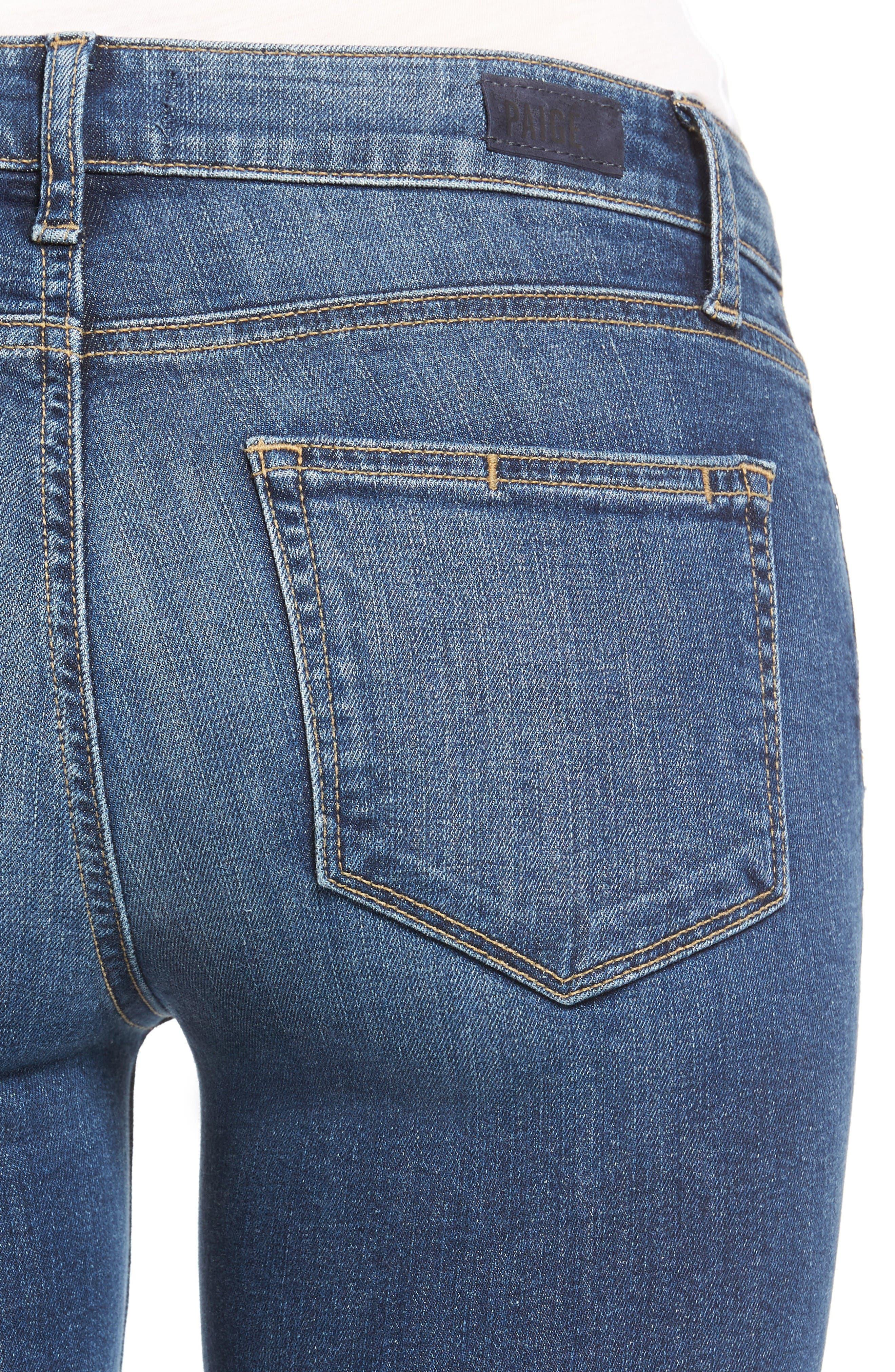 Alternate Image 4  - PAIGE Transcend - Manhattan Bootcut Jeans (Lane)