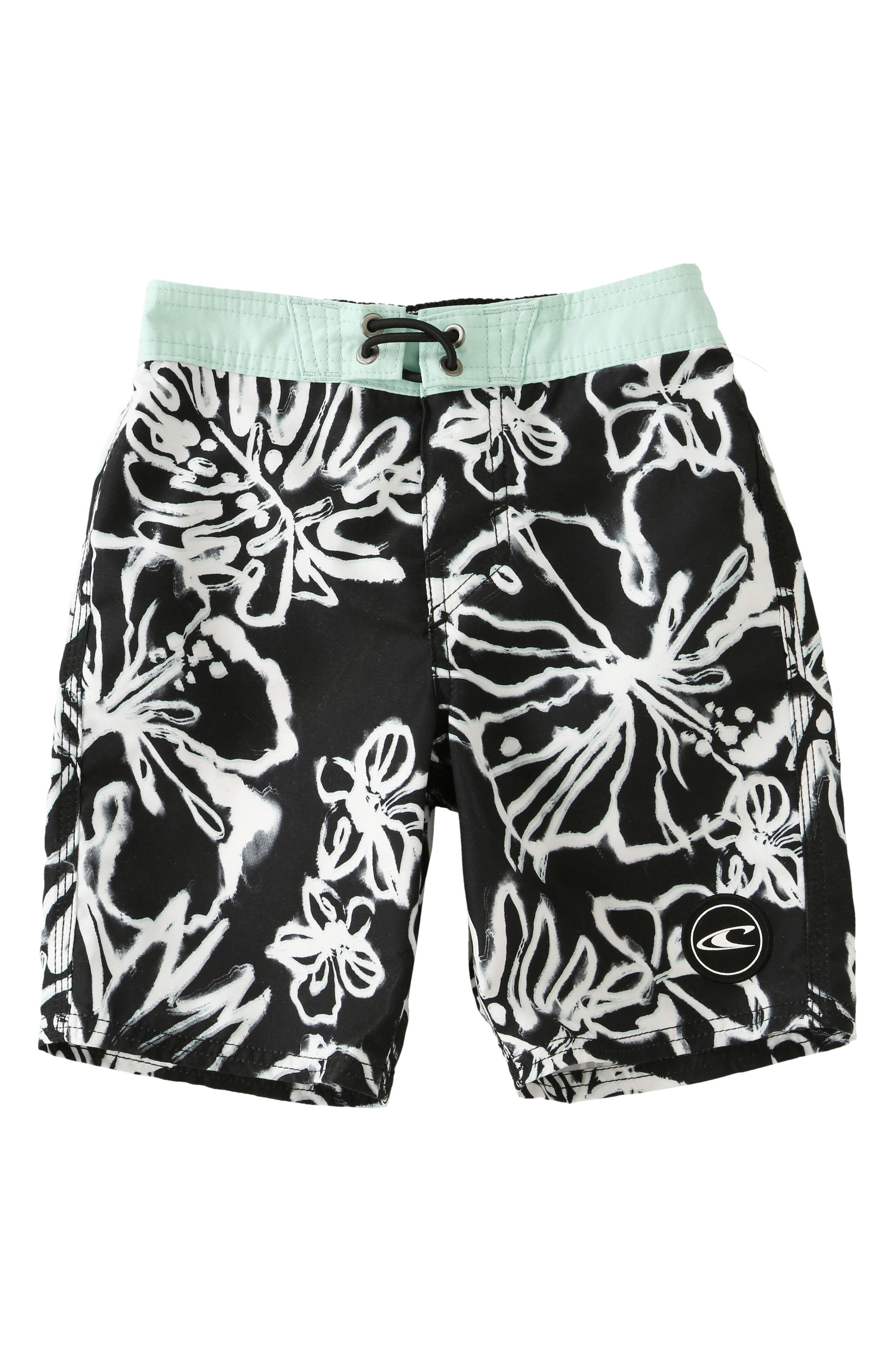 Hanalei Board Shorts,                             Main thumbnail 1, color,                             Black