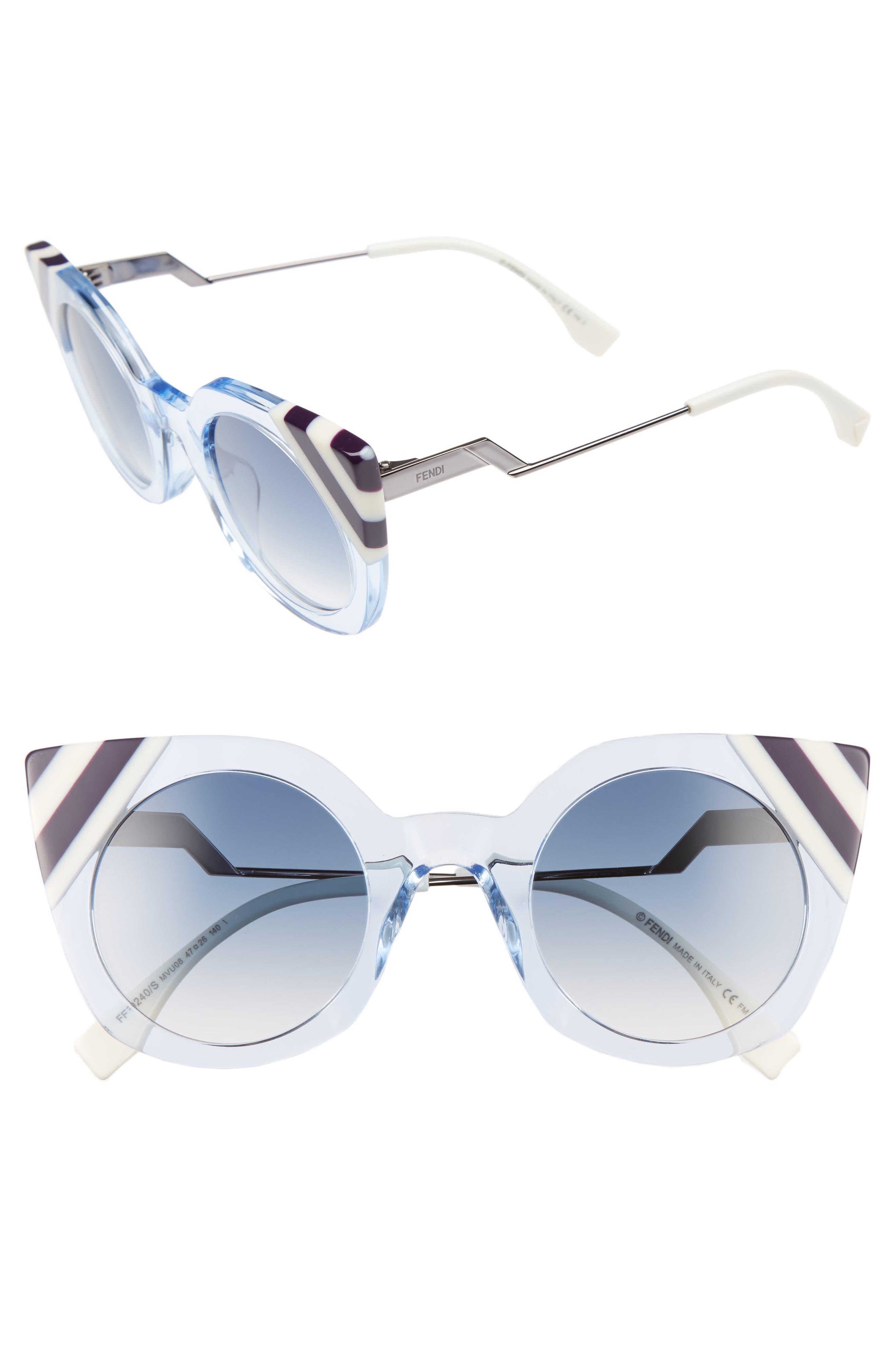 Fendi 47mm Cat Eye Sunglasses