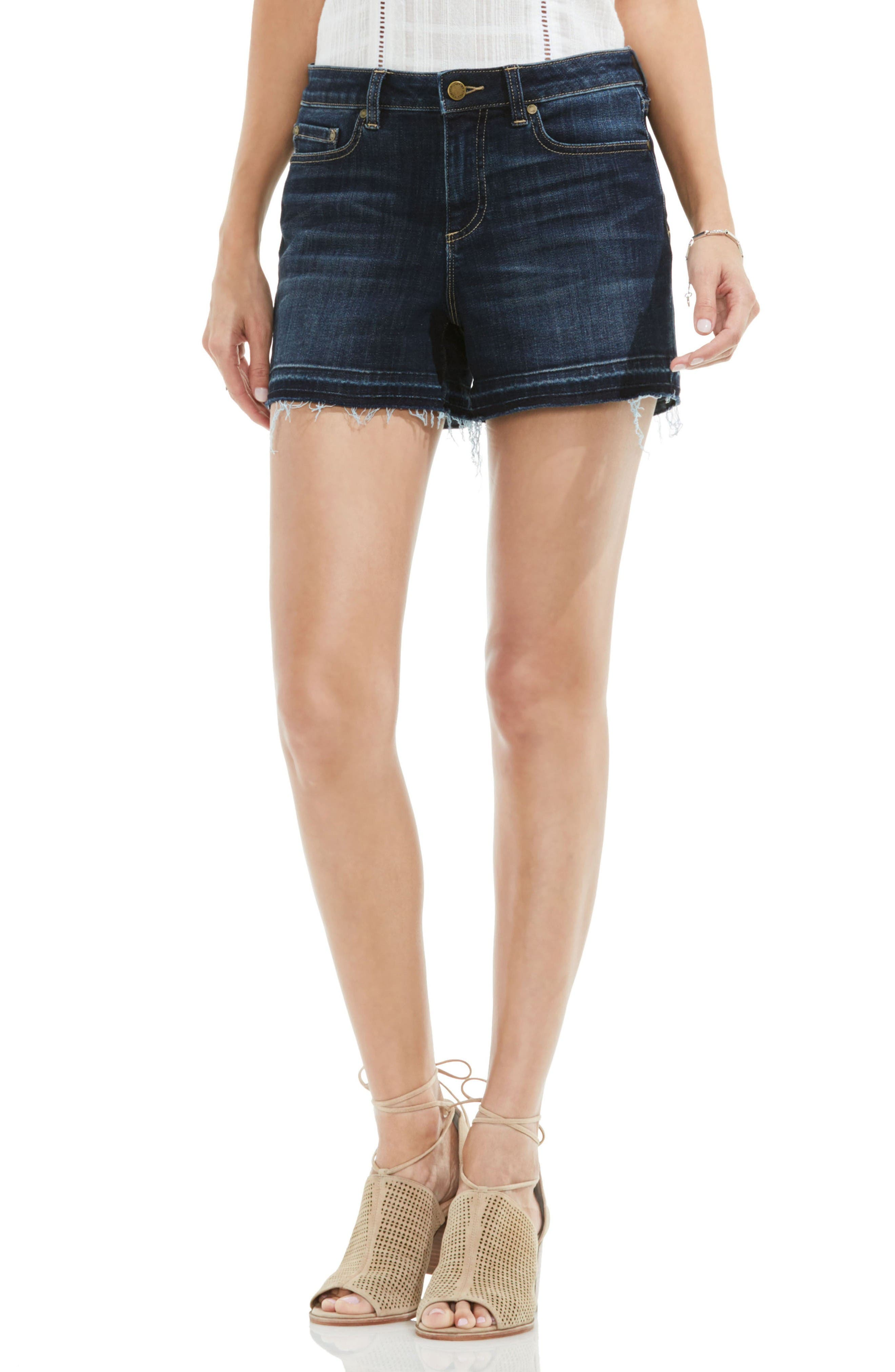 Main Image - Two by Vince Camuto Release Hem Denim Shorts