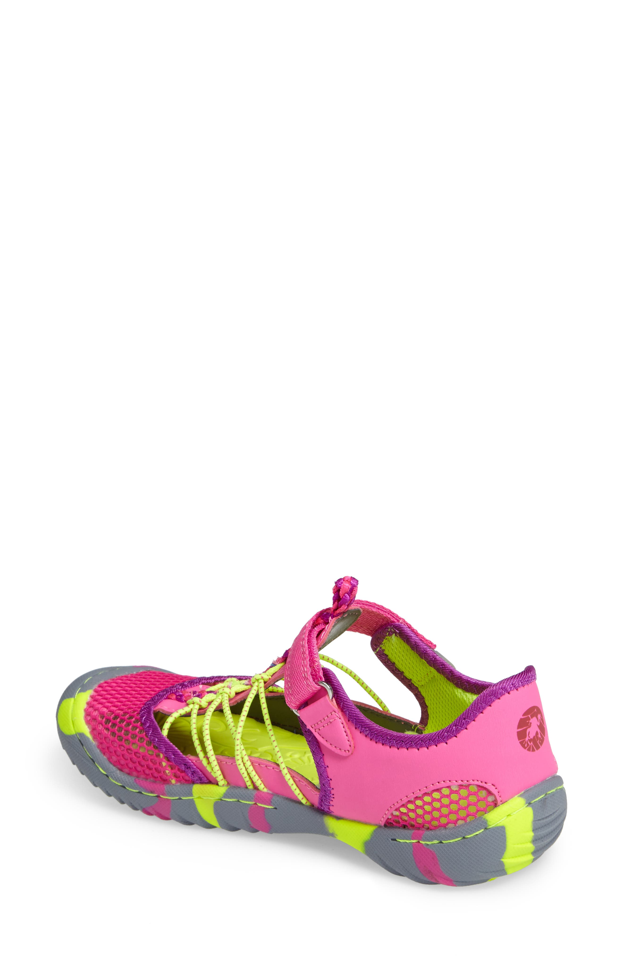 Everly Water Friendly Sport Sandal,                             Alternate thumbnail 2, color,                             Pink/ Neon