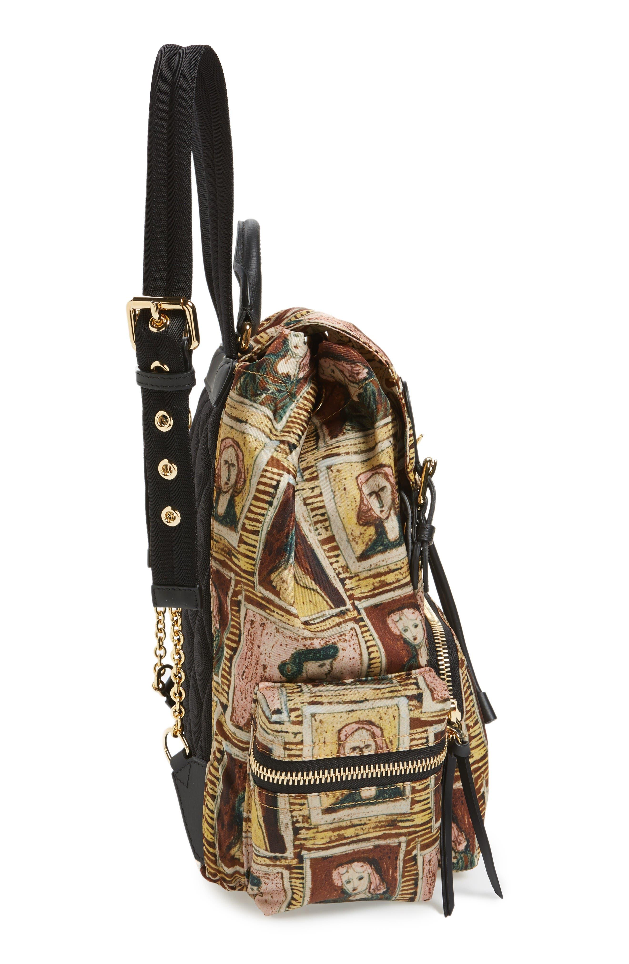 Medium Henrey Backpack,                             Alternate thumbnail 5, color,                             Umber Brown Multi