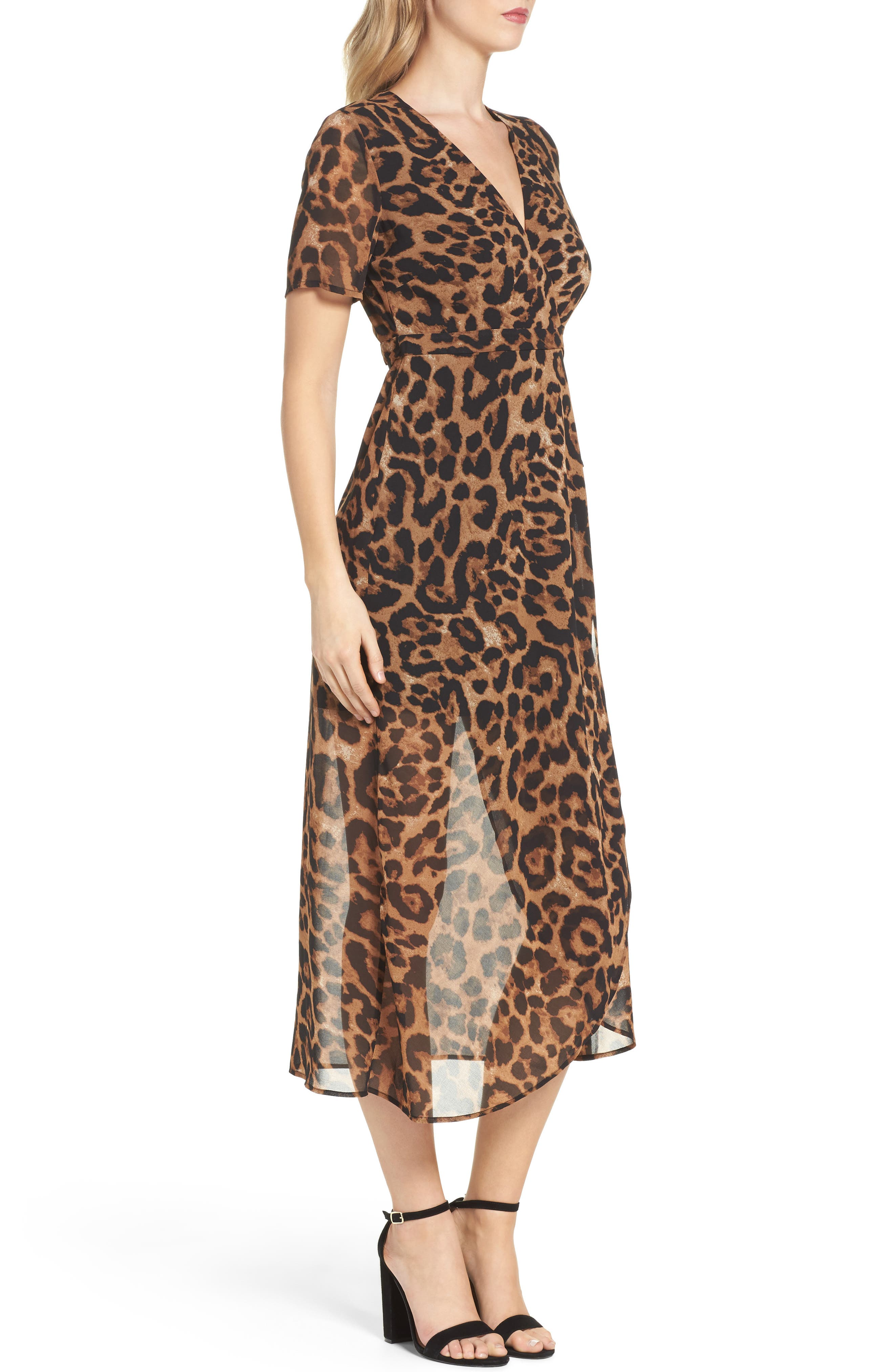 Alternate Image 3  - Bardot Leopard Print Wrap Dress