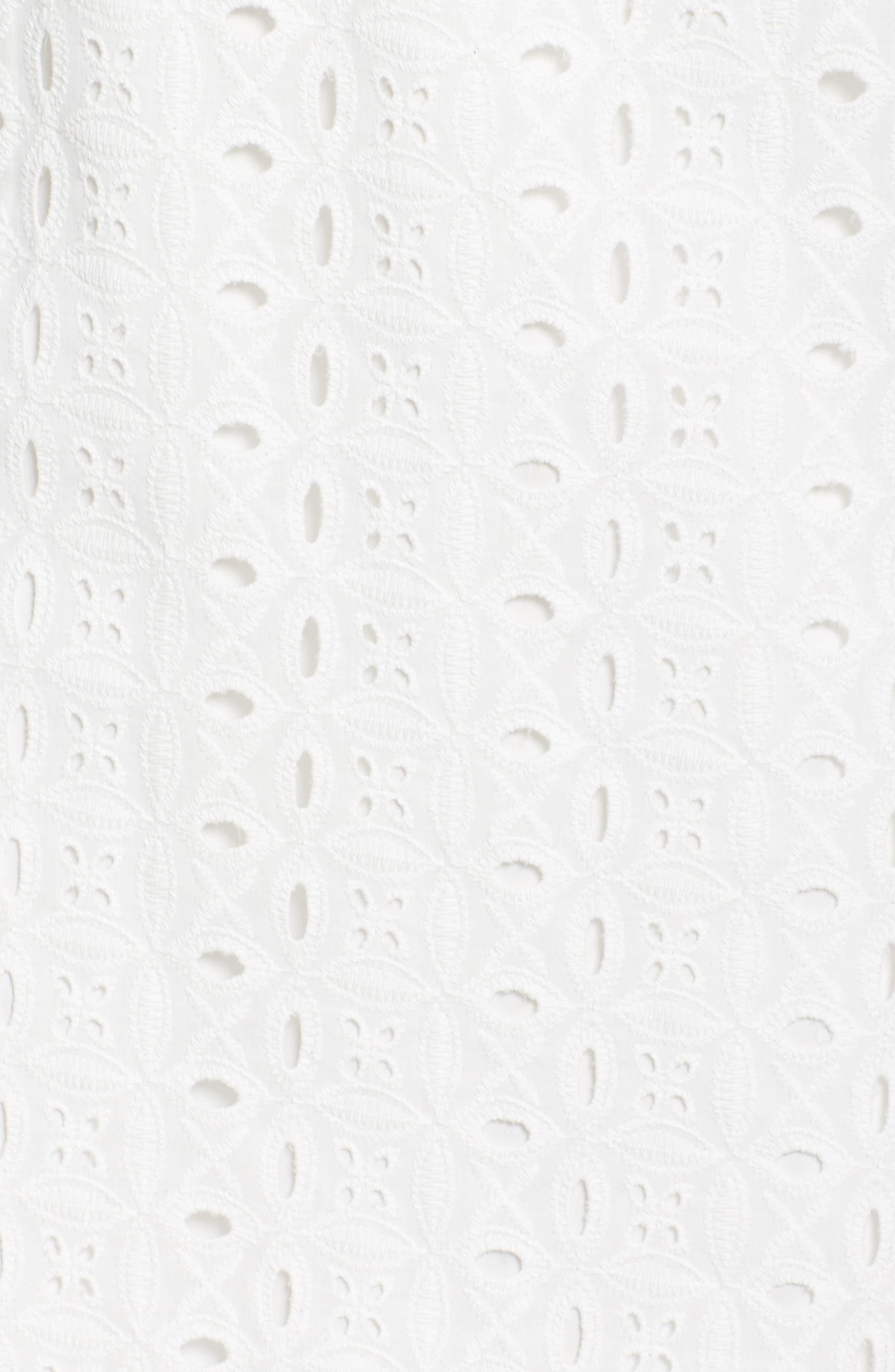 Mandarin Collar Shift Dress,                             Alternate thumbnail 6, color,                             White