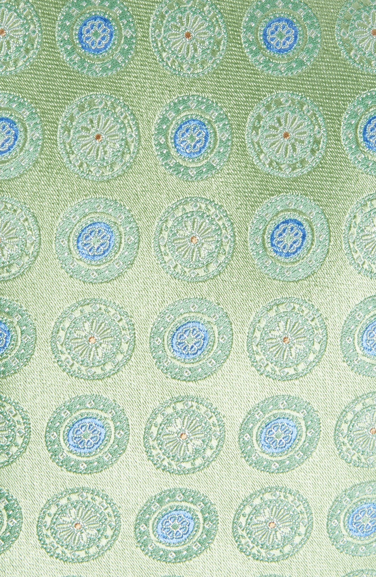 Medallion Silk Tie,                             Alternate thumbnail 2, color,                             Green