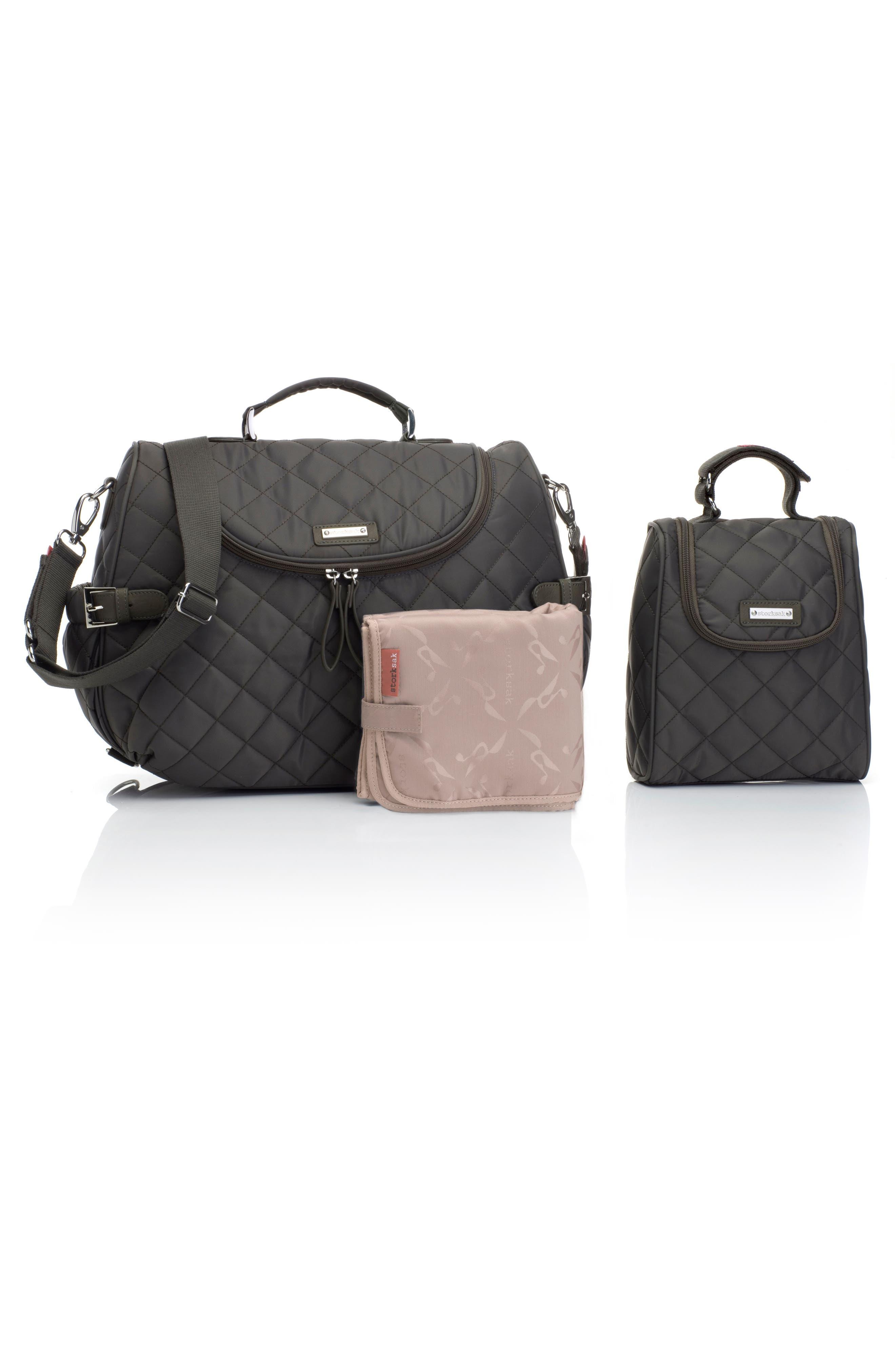 Alternate Image 4  - Storksak Poppy Convertible Diaper Bag