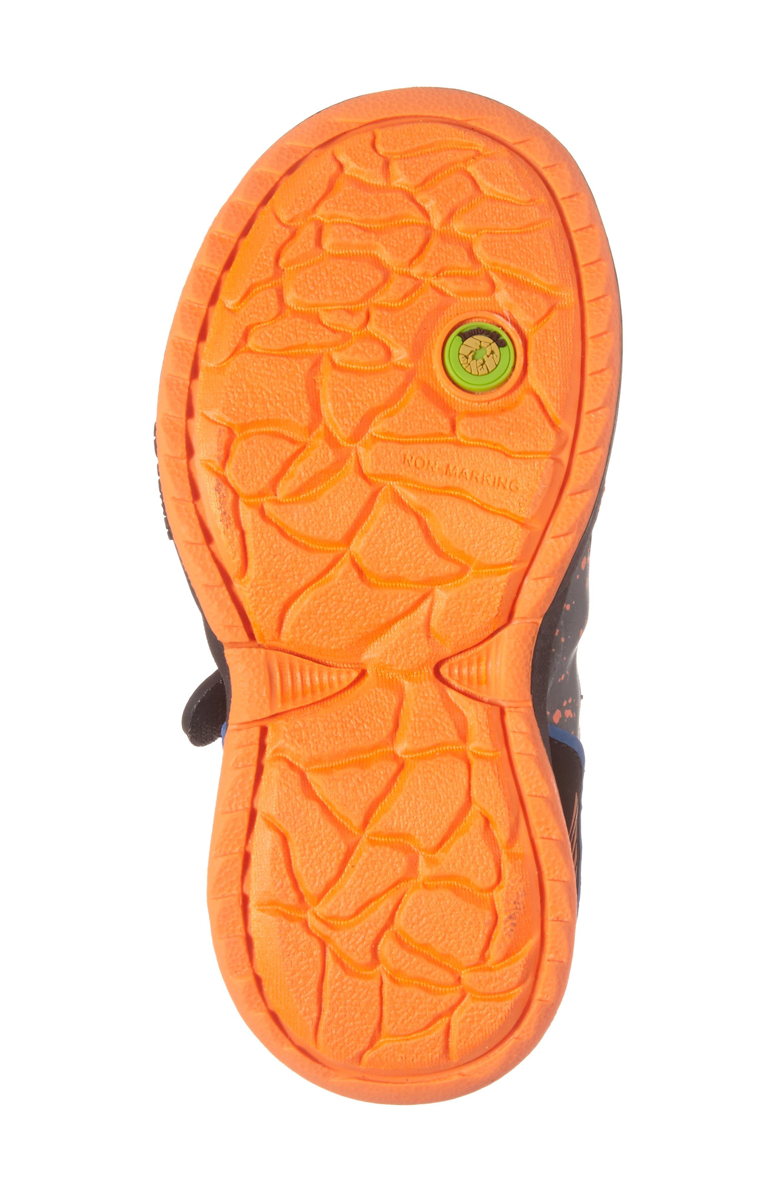 Squamata Sport Sneaker,                             Alternate thumbnail 6, color,                             Black/ Orange