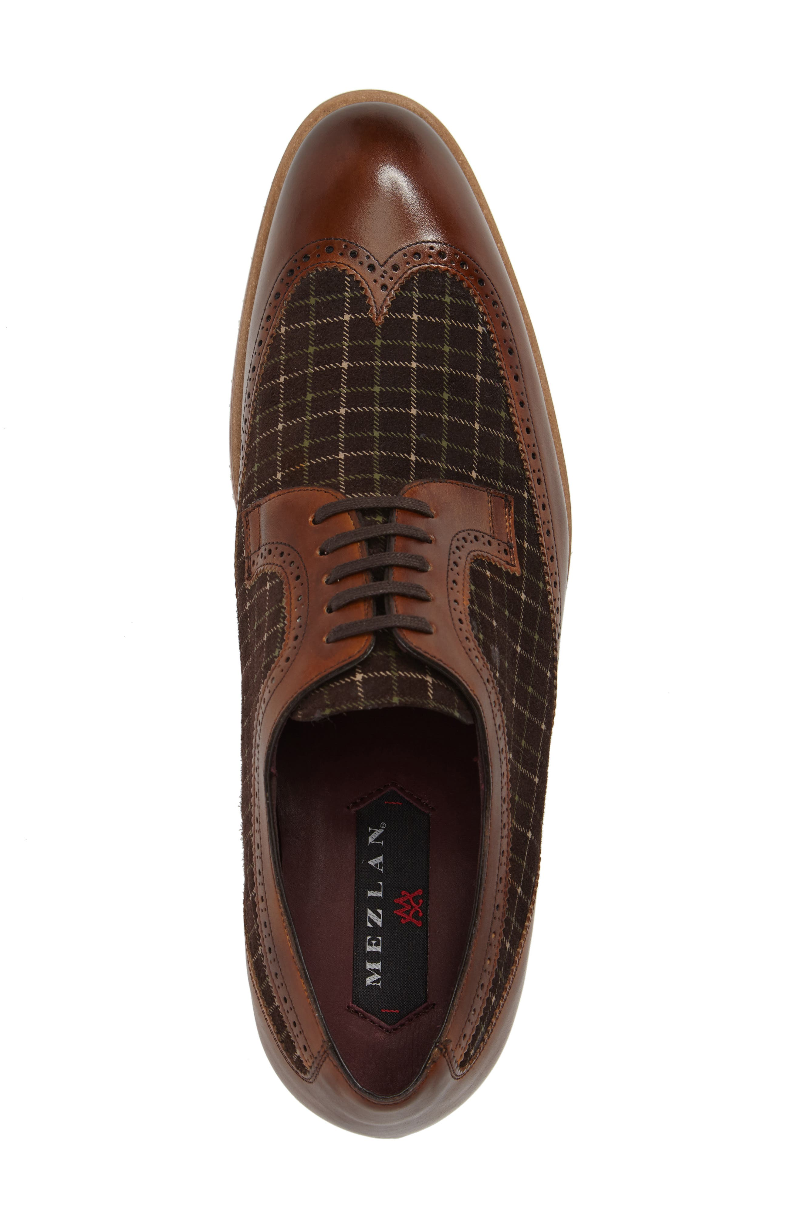 Paulov Tattersall Wingtip,                             Alternate thumbnail 5, color,                             Cognac/ Brown Leather