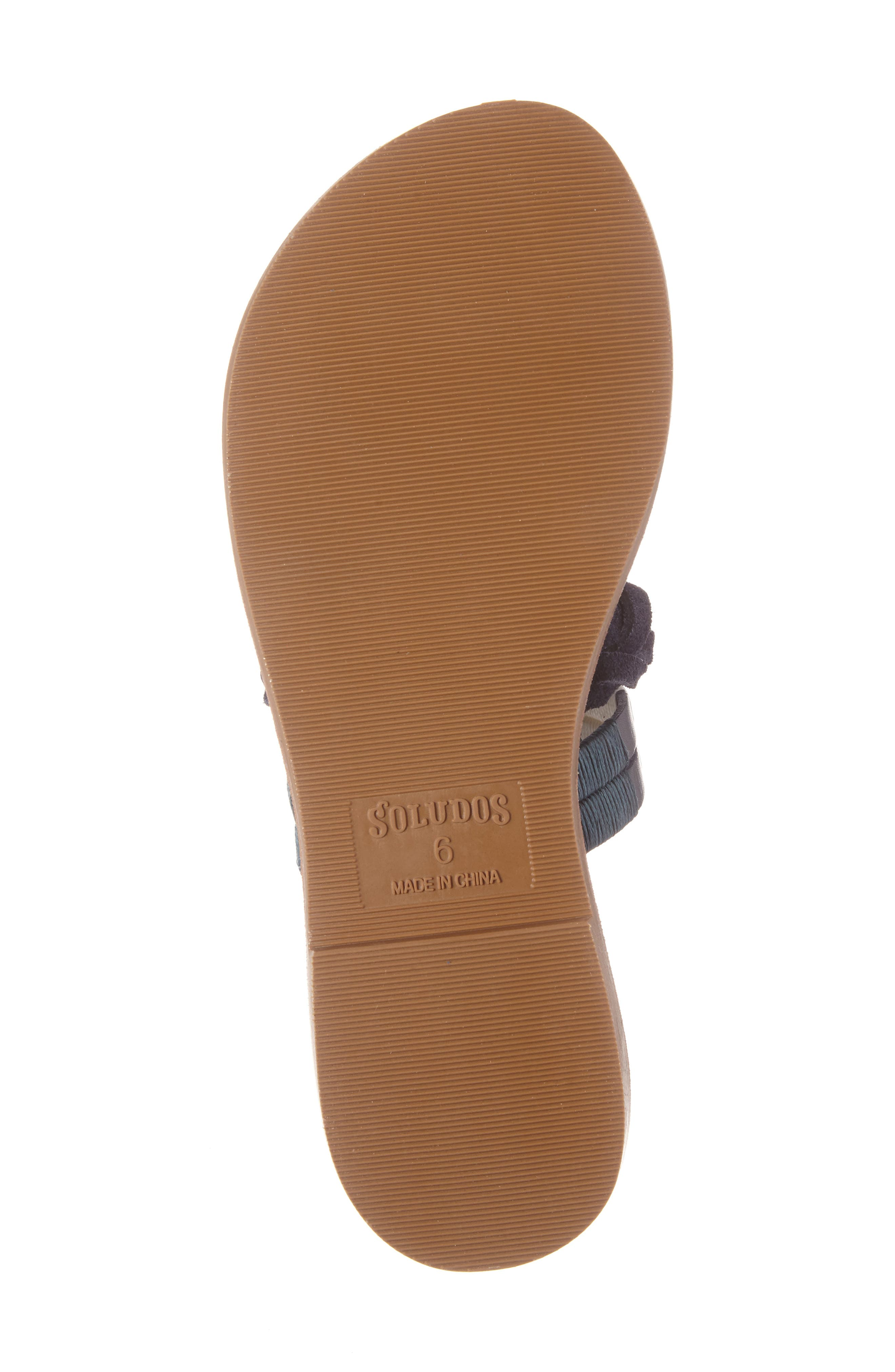 Slide Sandal,                             Alternate thumbnail 7, color,                             Midnight/ Blue Multi Leather