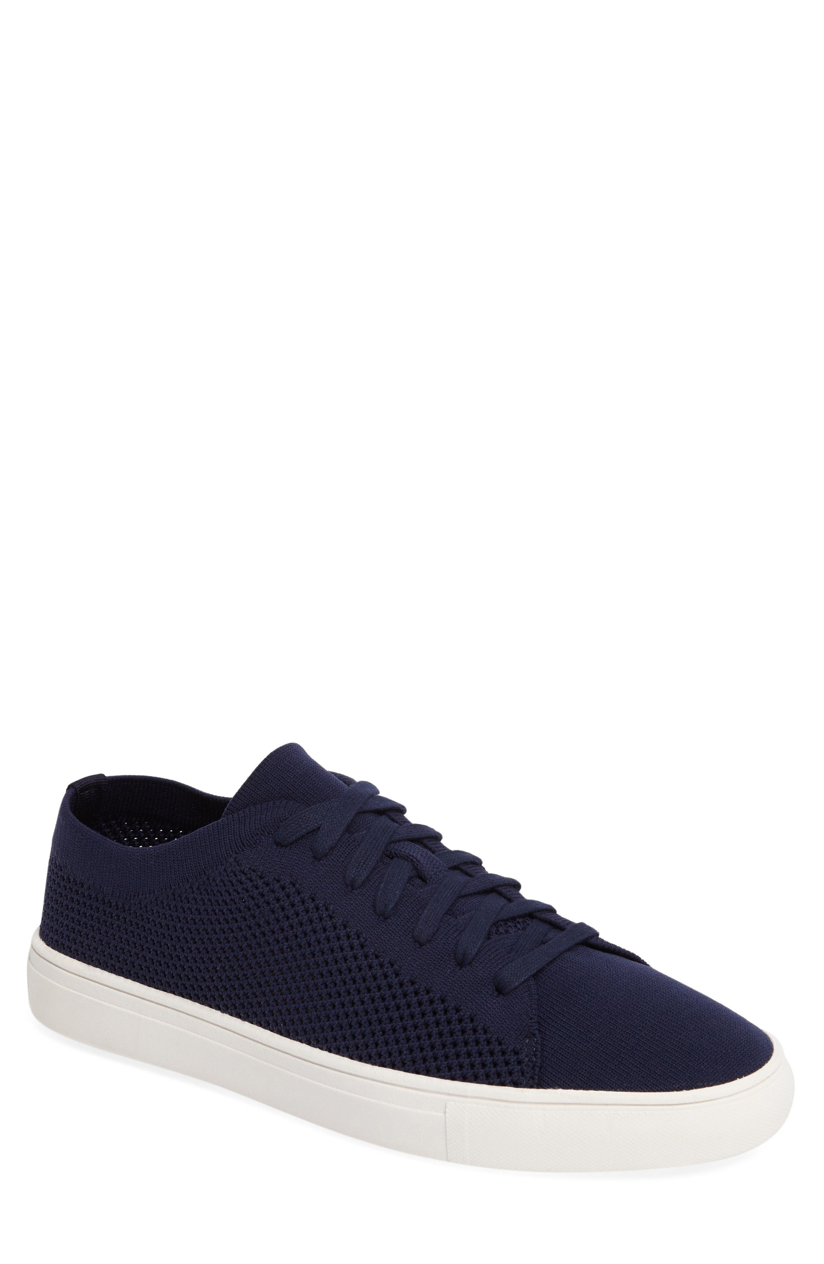 On the Road Woven Sneaker,                         Main,                         color, Navy