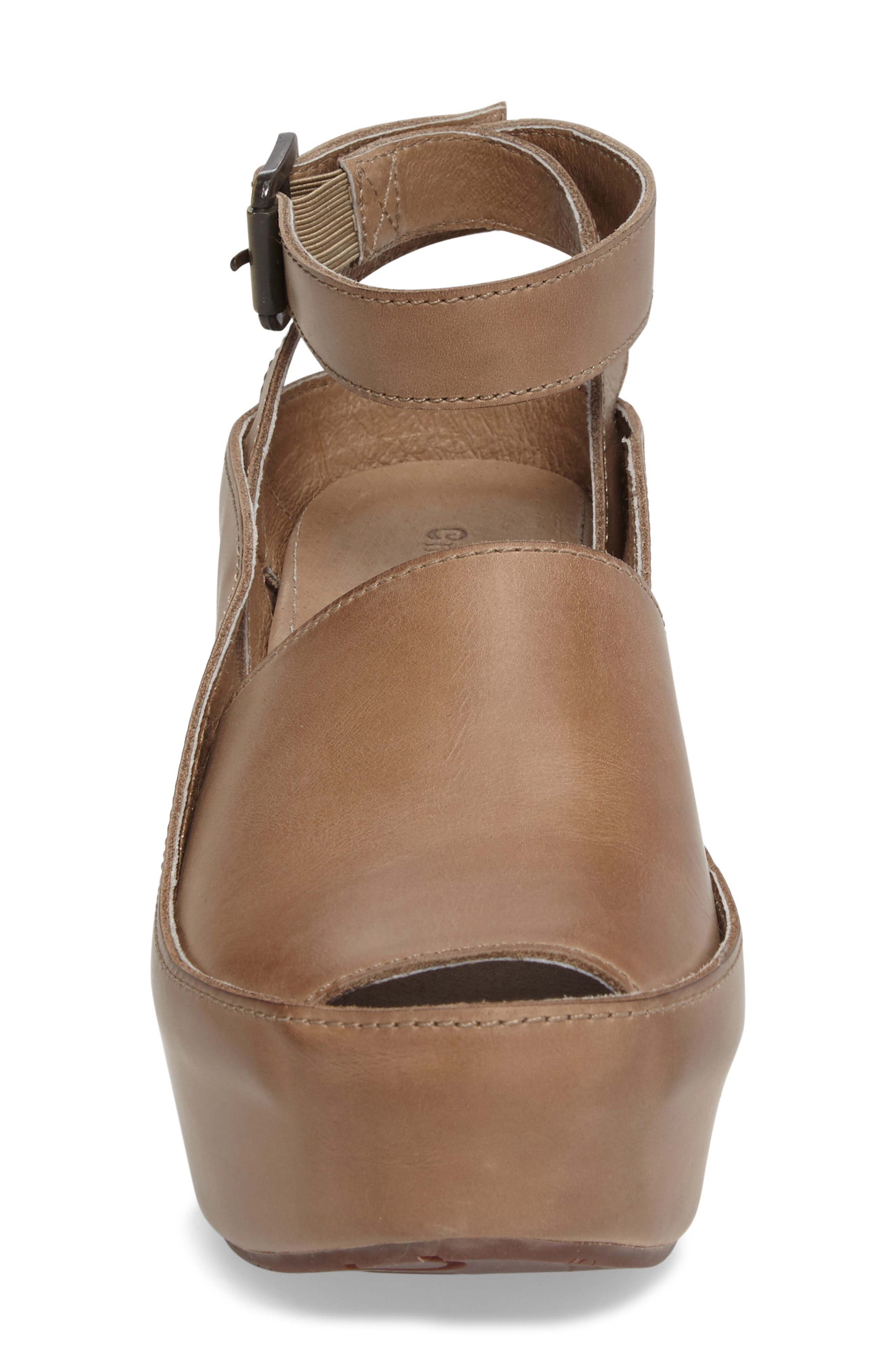 Alternate Image 4  - Chocolat Blu Wisper Wedge Sandal (Women)