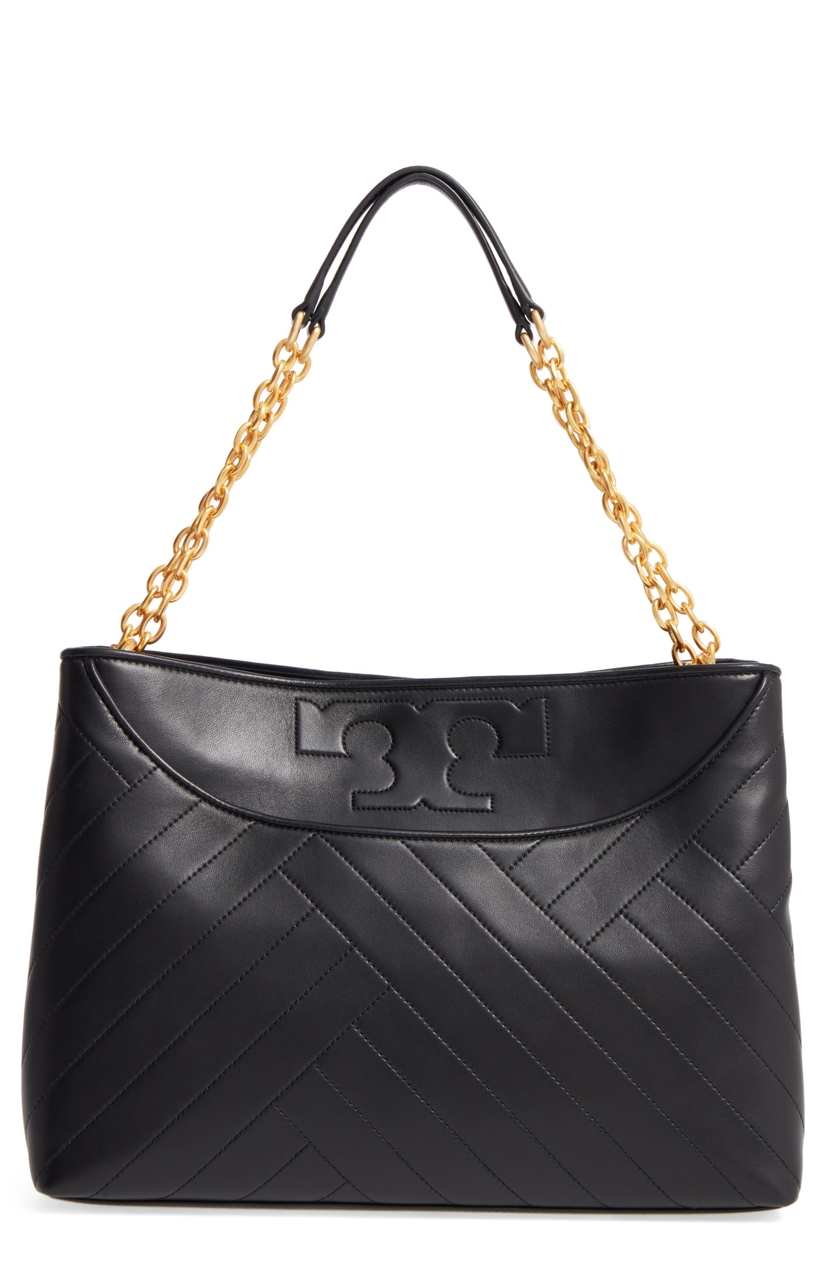 Tory Burch Quilted Slouchy Leather Tote