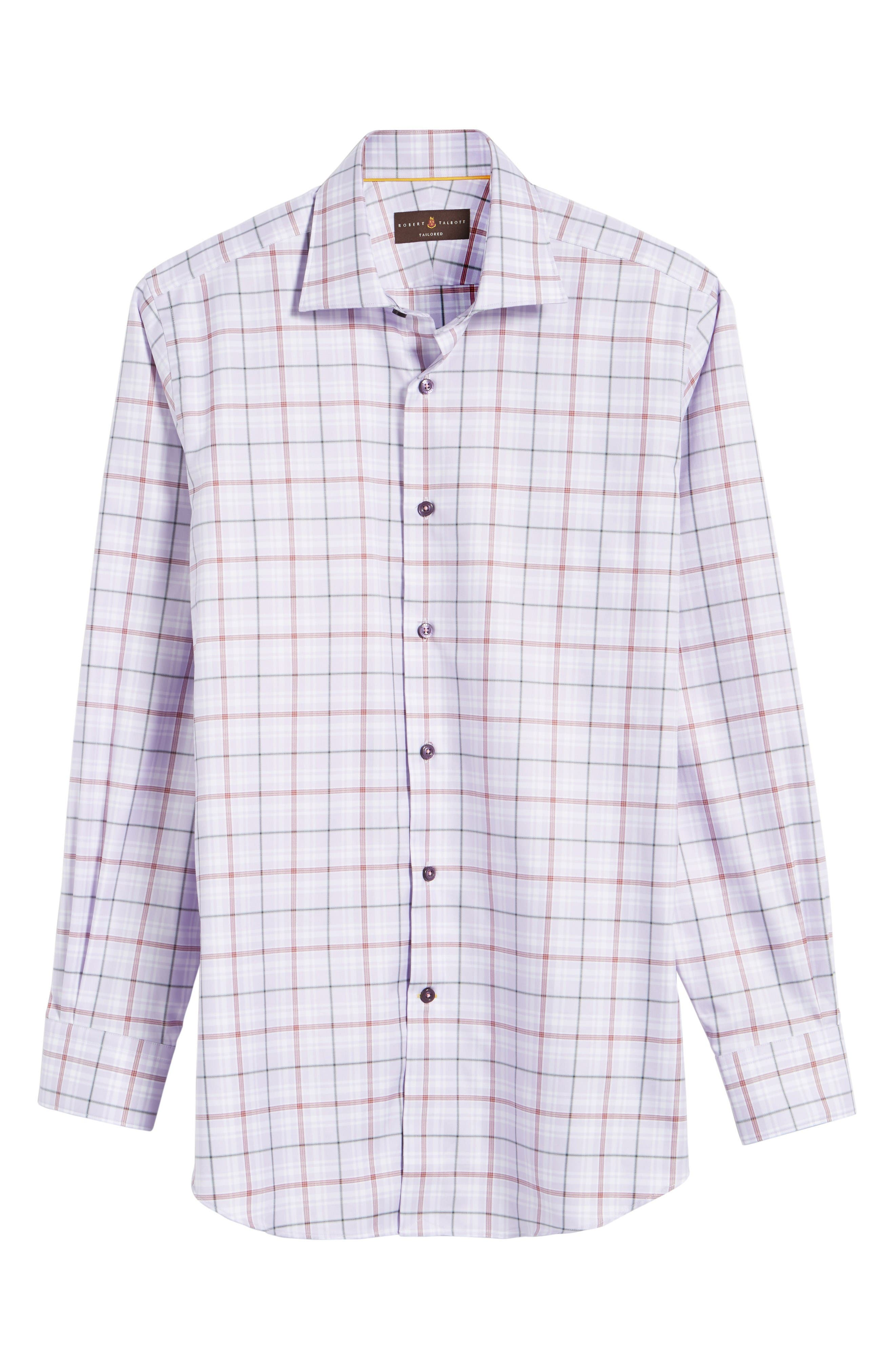 Crespi IV Tailored Fit Sport Shirt,                             Alternate thumbnail 6, color,                             Lavender