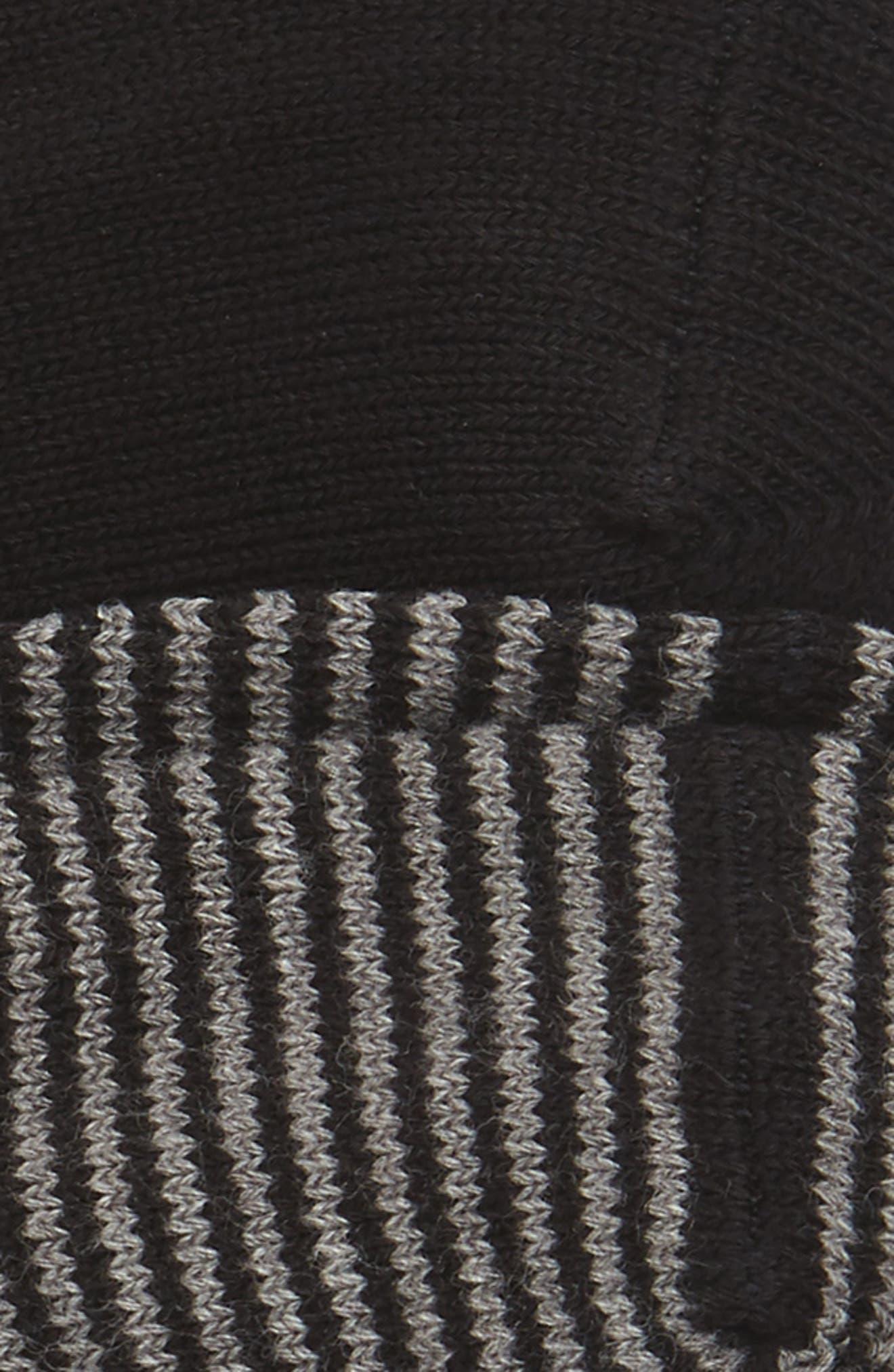 2-Pack Loafer Liner Socks,                             Alternate thumbnail 2, color,                             Black/ Black- Grey