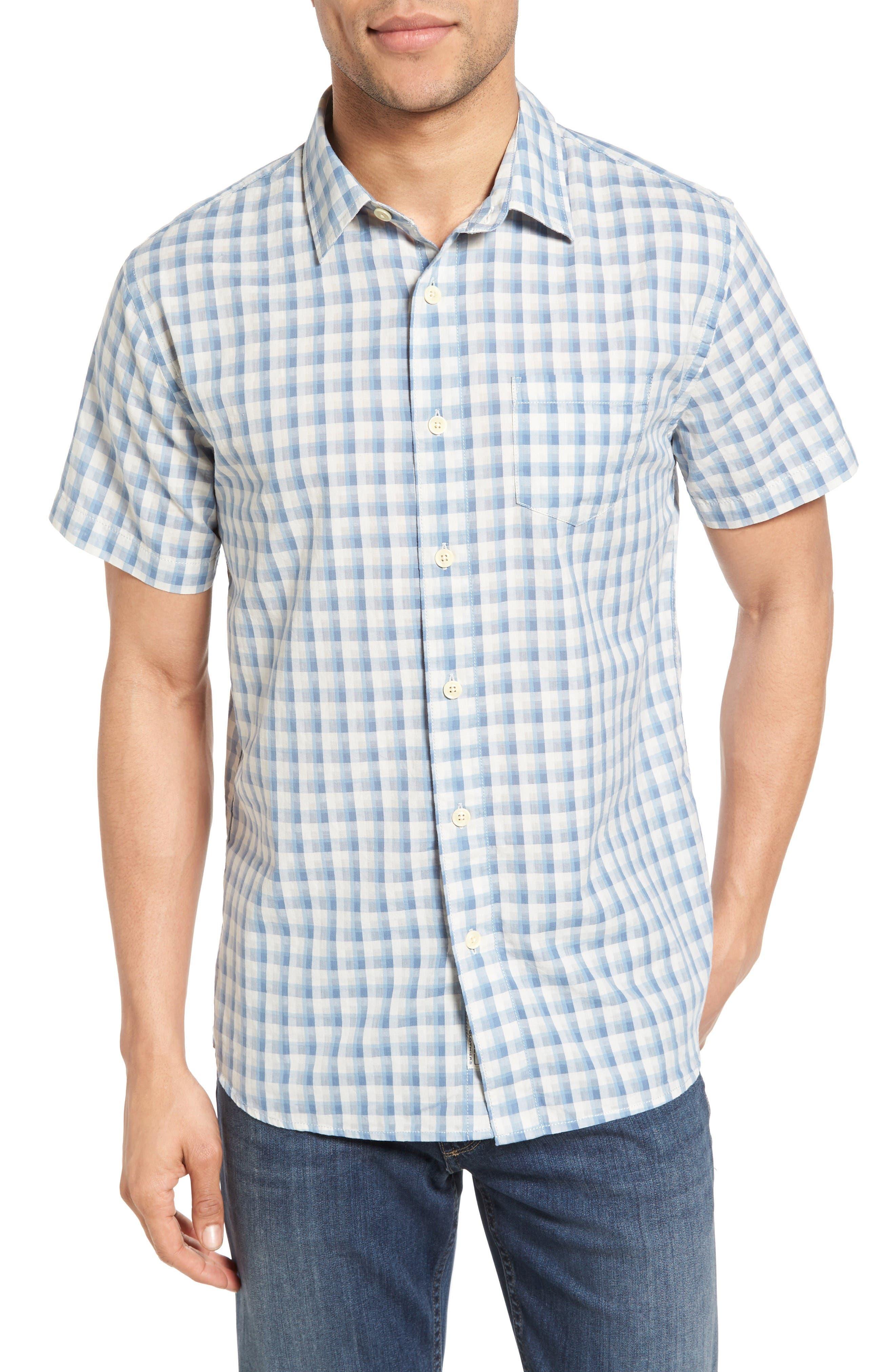 Grayers Grange Trim Fit Shadow Gingham Sport Shirt