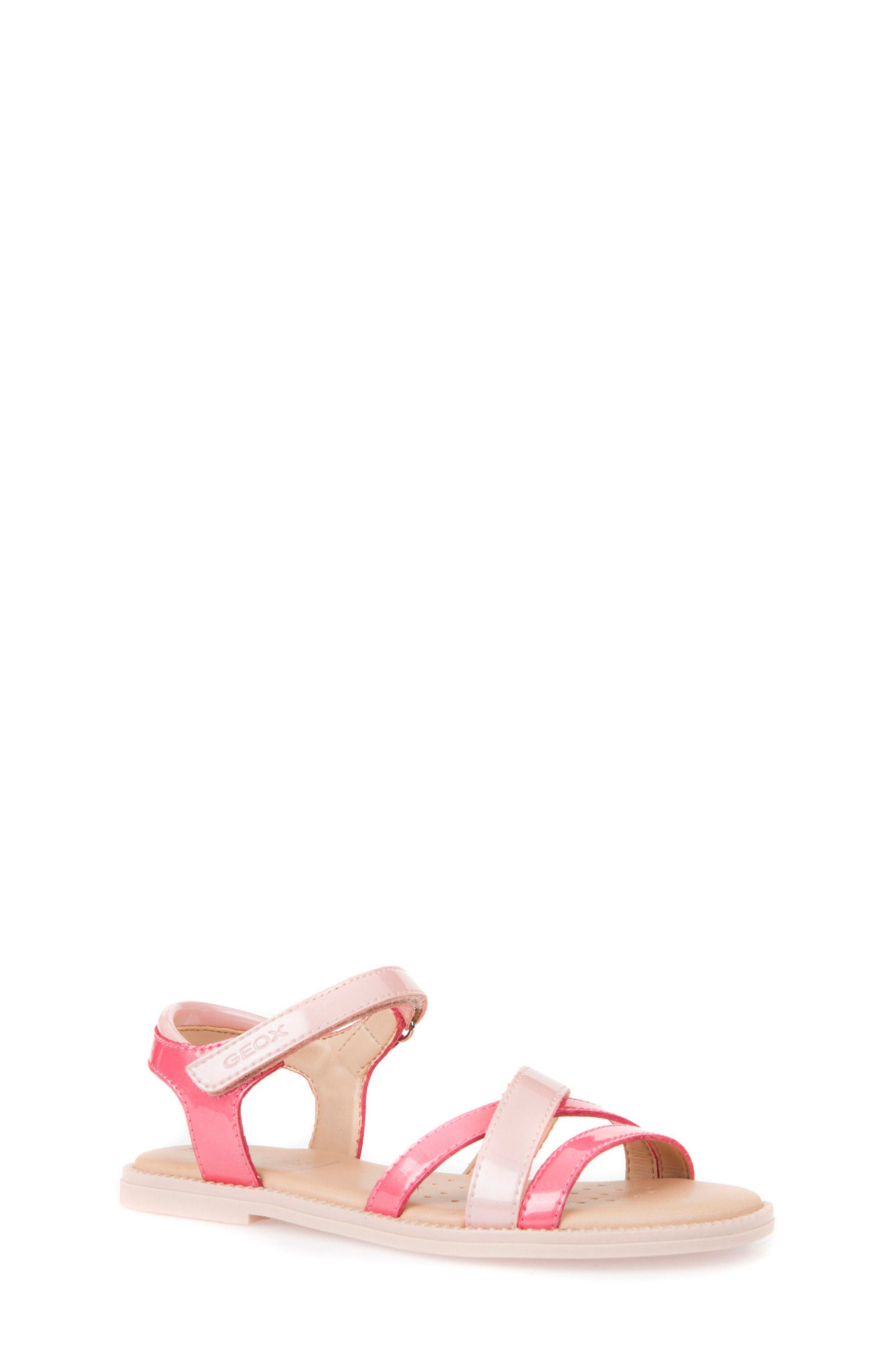 Karly Girl Sandal,                             Main thumbnail 1, color,                             Light Coral/ Rose