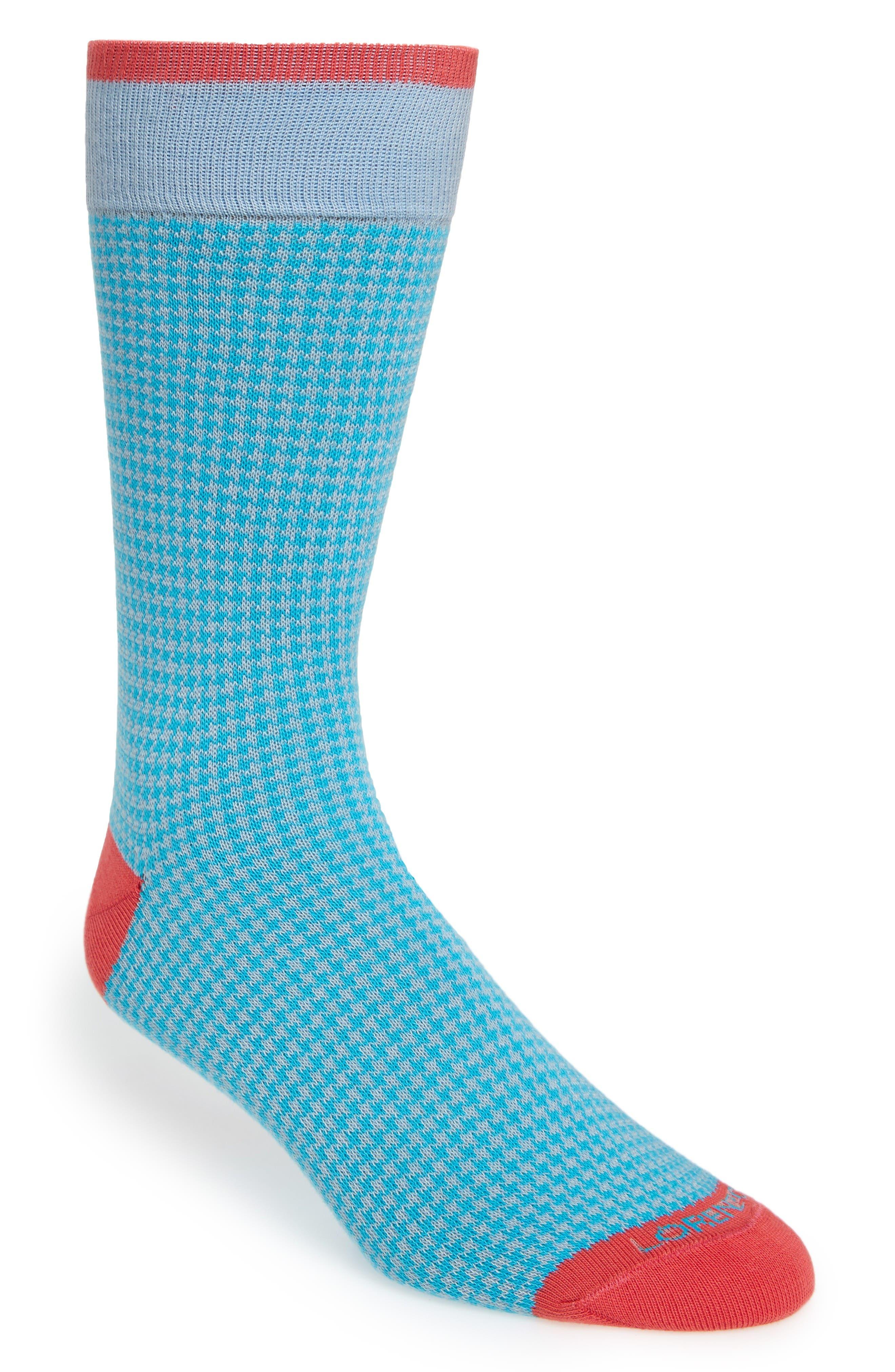 Lorenzo Uomo Houndstooth Socks