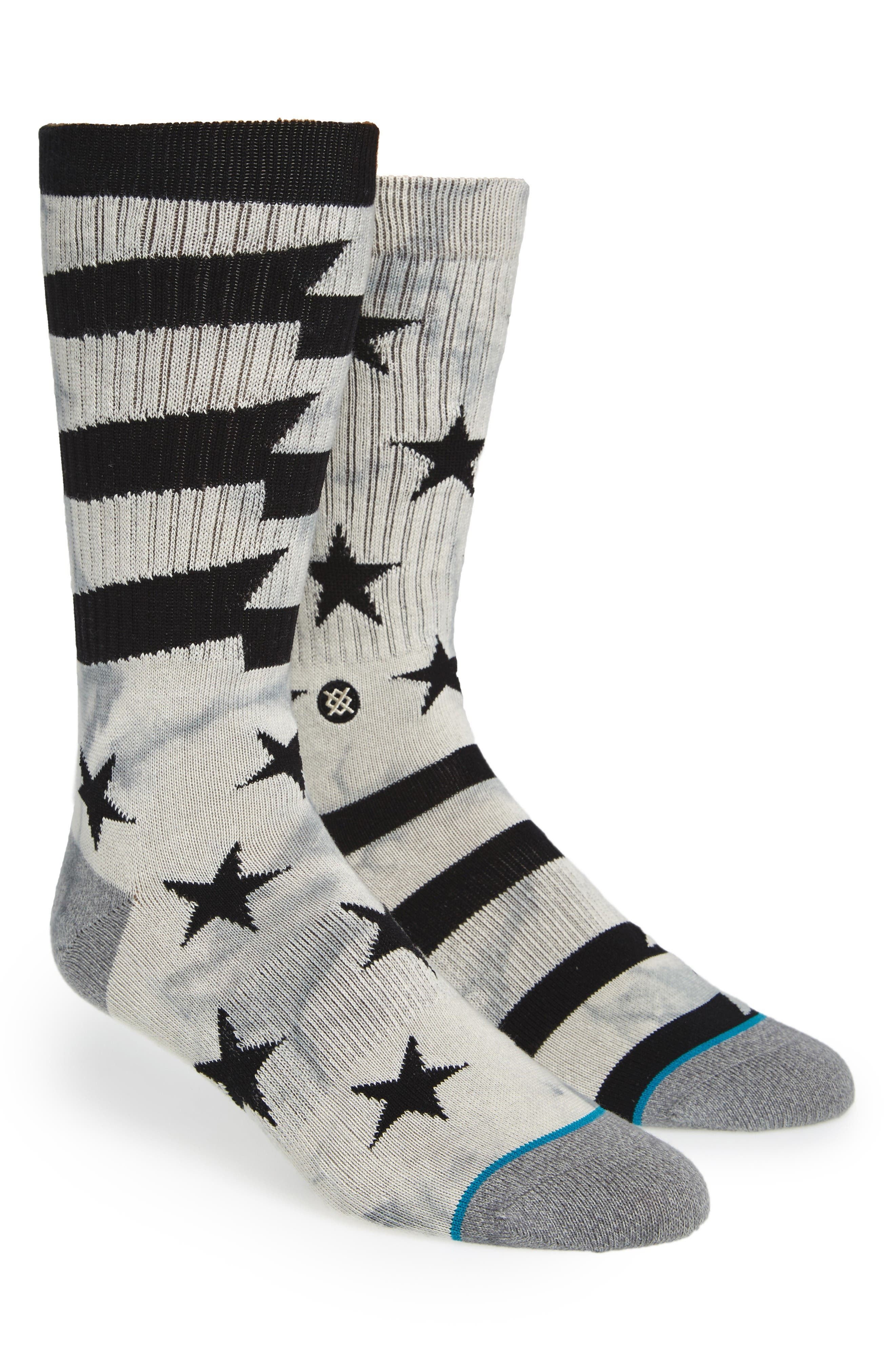 Sidereal Crew Socks,                         Main,                         color, Grey