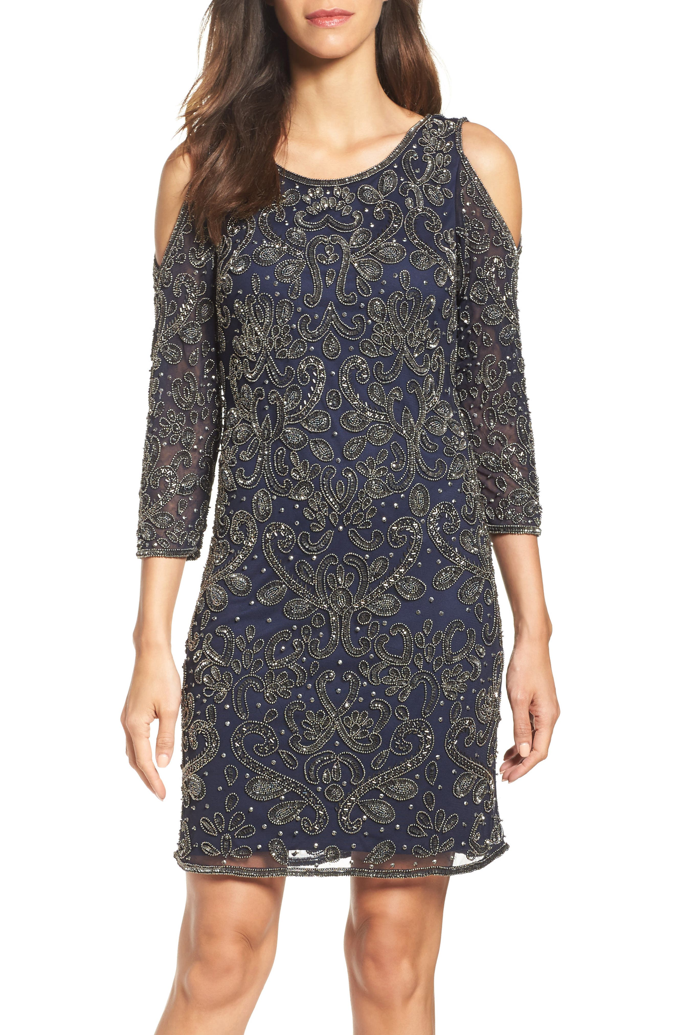 Alternate Image 4  - Pisarro Nights Embellished Mesh Sheath Dress