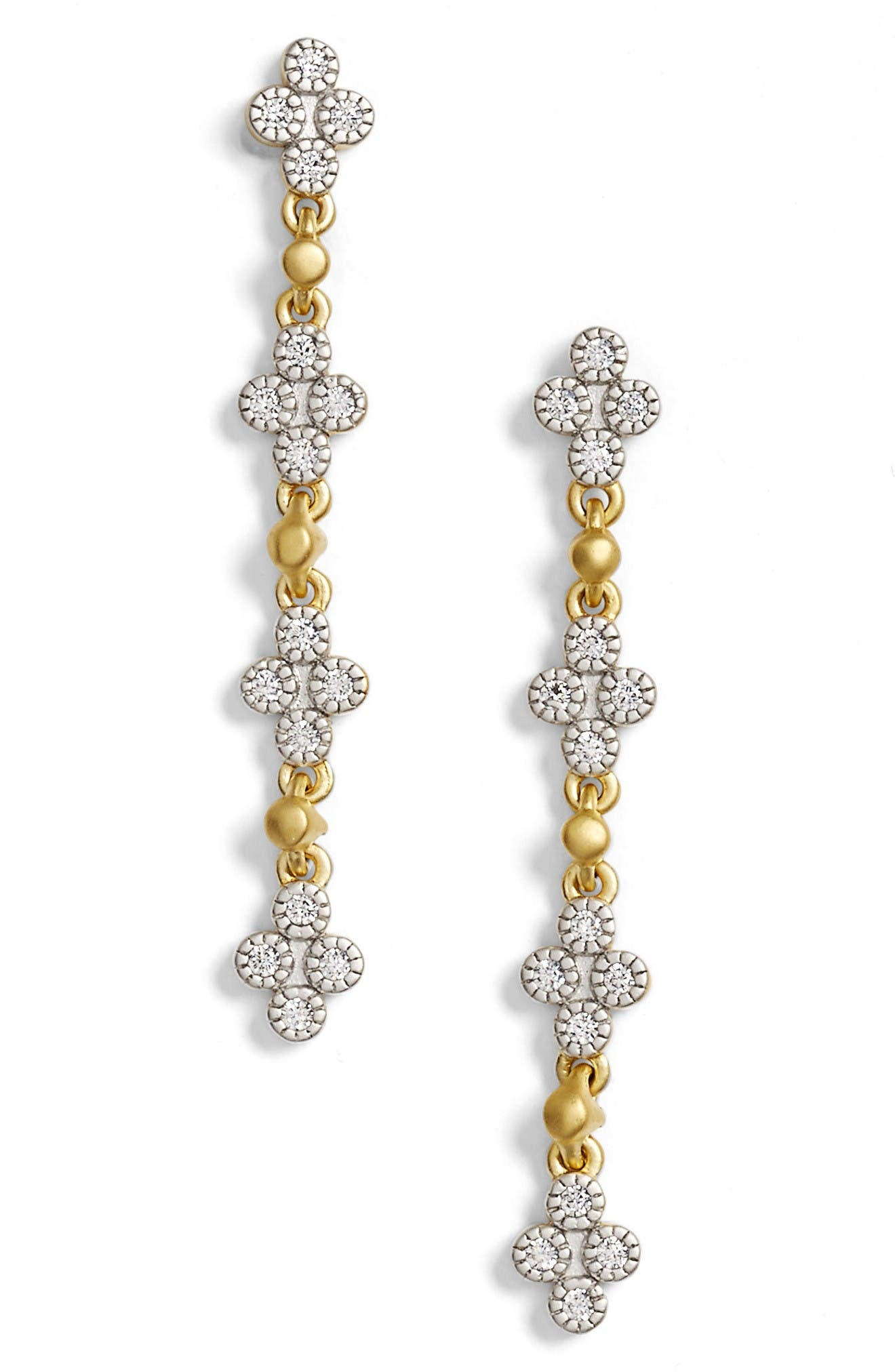FREIDA ROTHMAN Visionary Fusion Pavé Clover Drop Earrings
