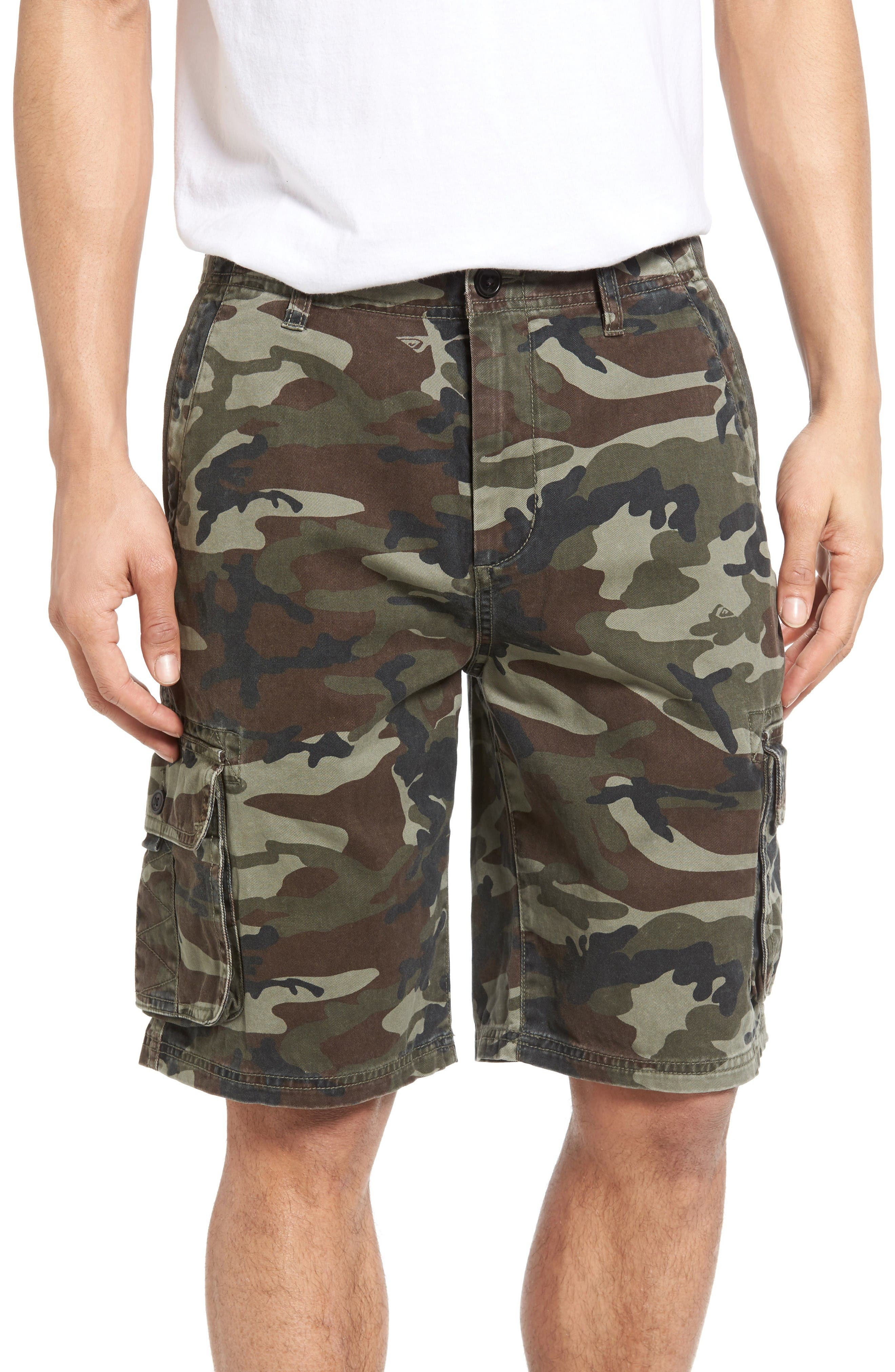 Everyday Deluxe Cargo Shorts,                         Main,                         color, Camoflage