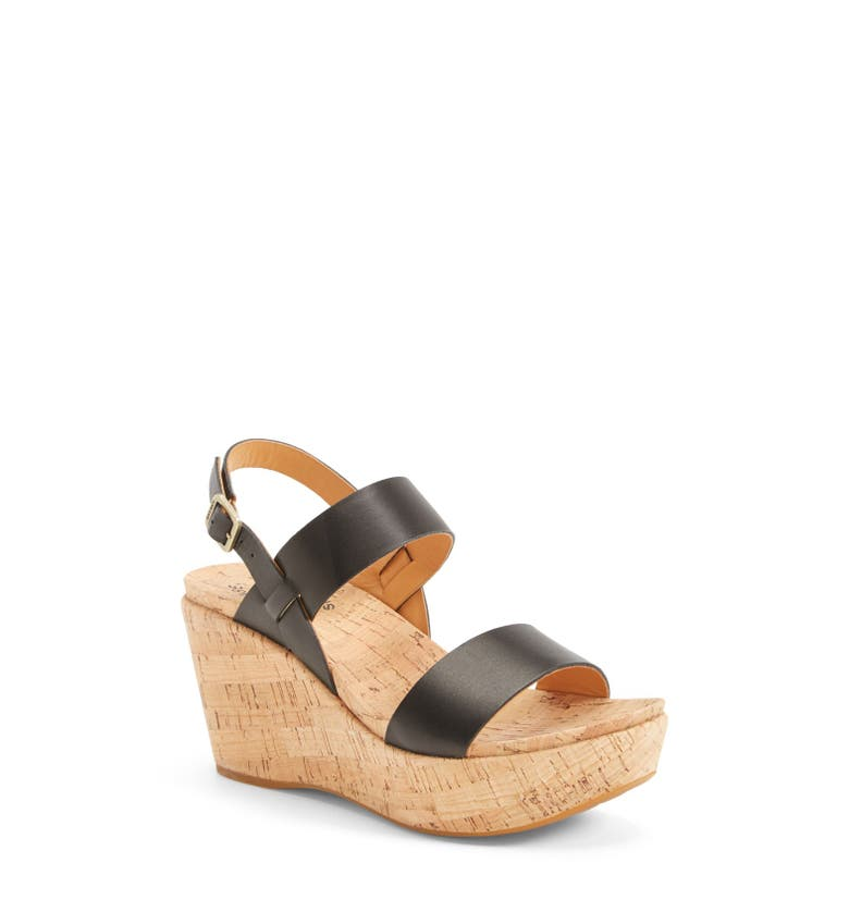 'Austin' Slingback Wedge Sandal,                         Main,                         color, Black