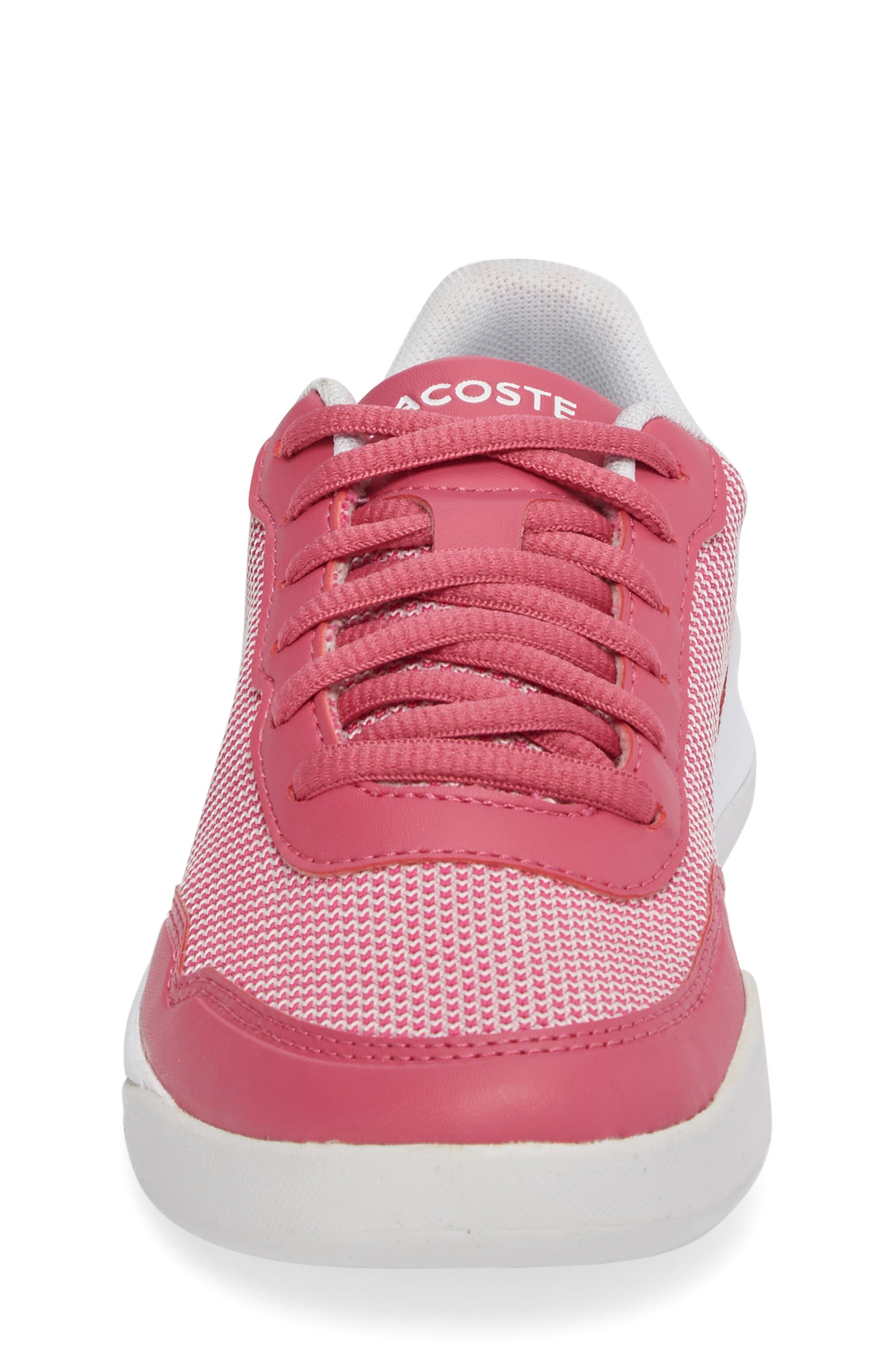 LT Spirit Woven Sneaker,                             Alternate thumbnail 4, color,                             Pink/ White