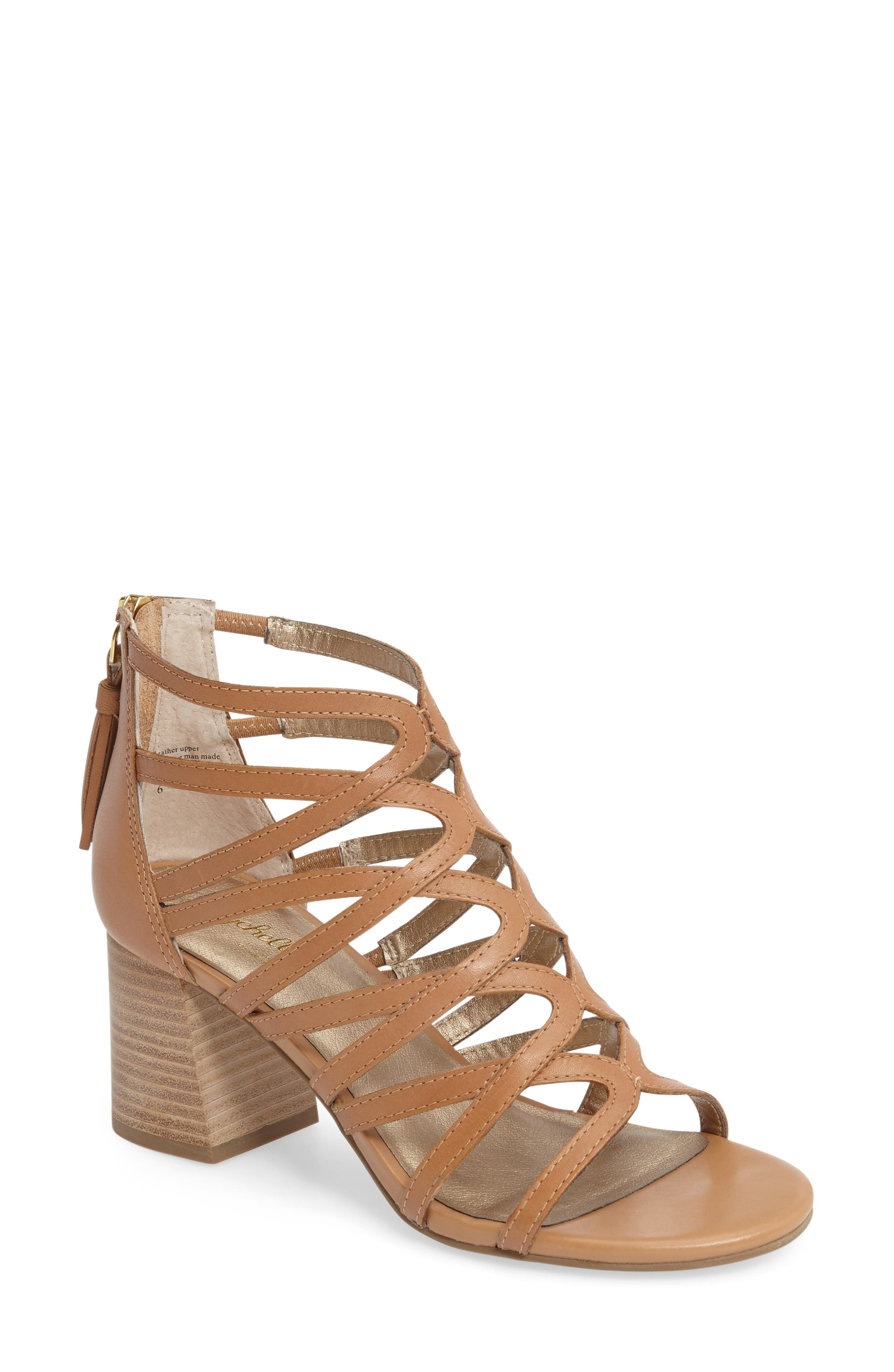One Kiss Sandal,                         Main,                         color, Vacchetta Leather