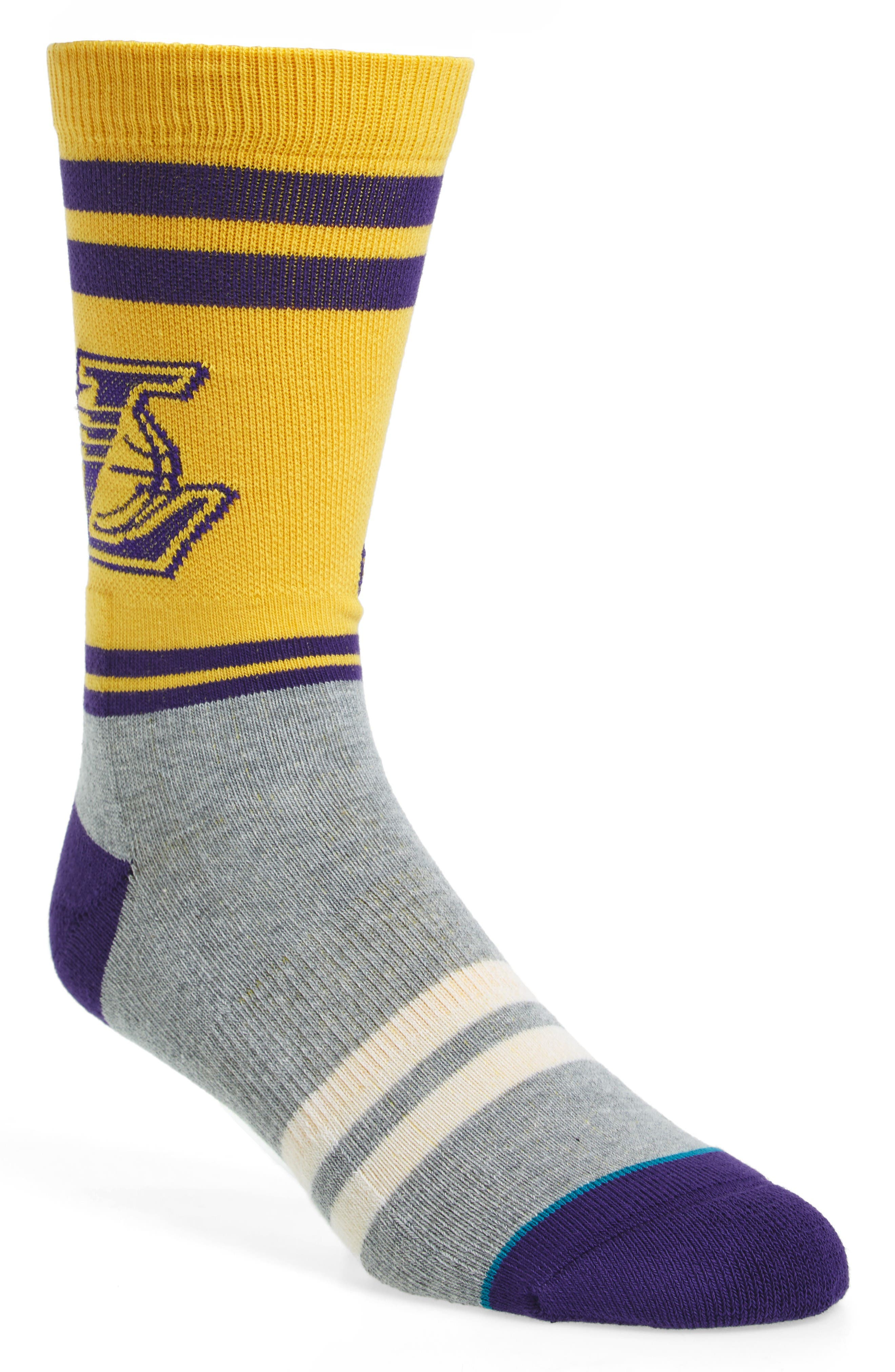 Alternate Image 1 Selected - Stance City Gym Los Angeles Lakers Socks