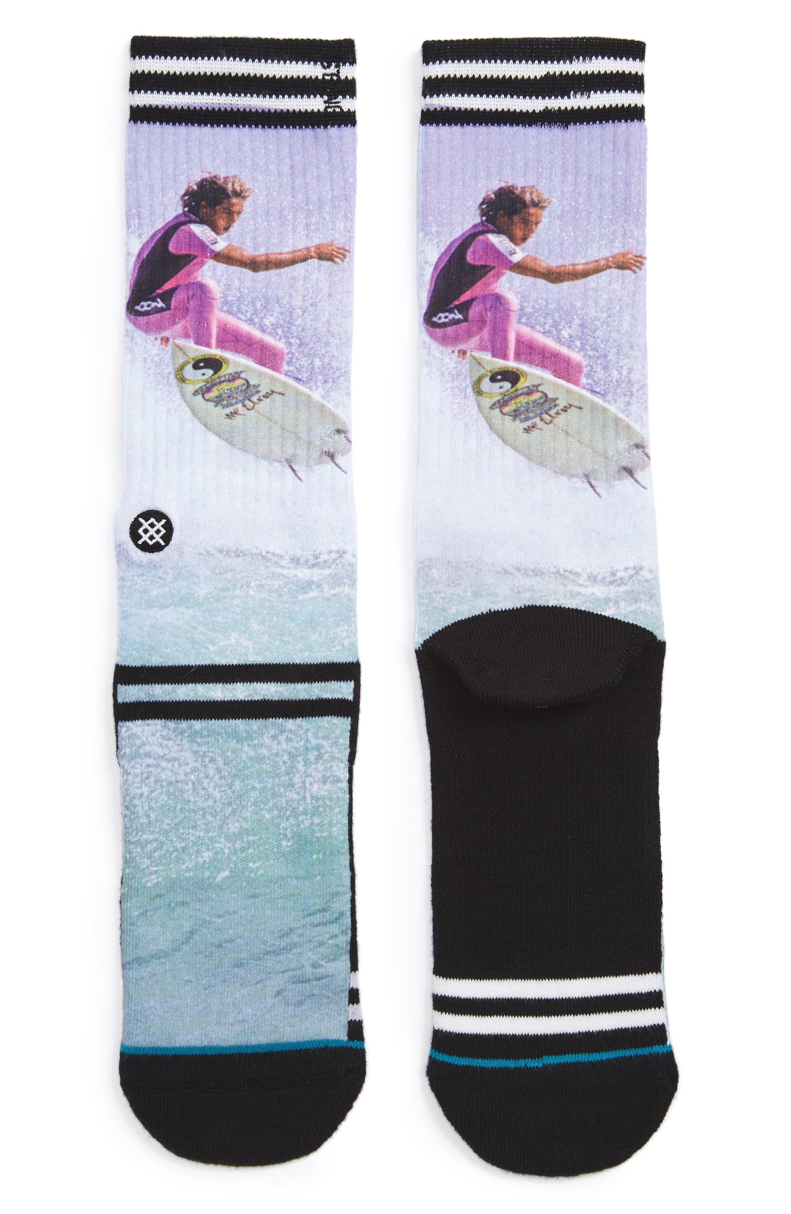 Fletcher Surf Legend Socks,                         Main,                         color, Black