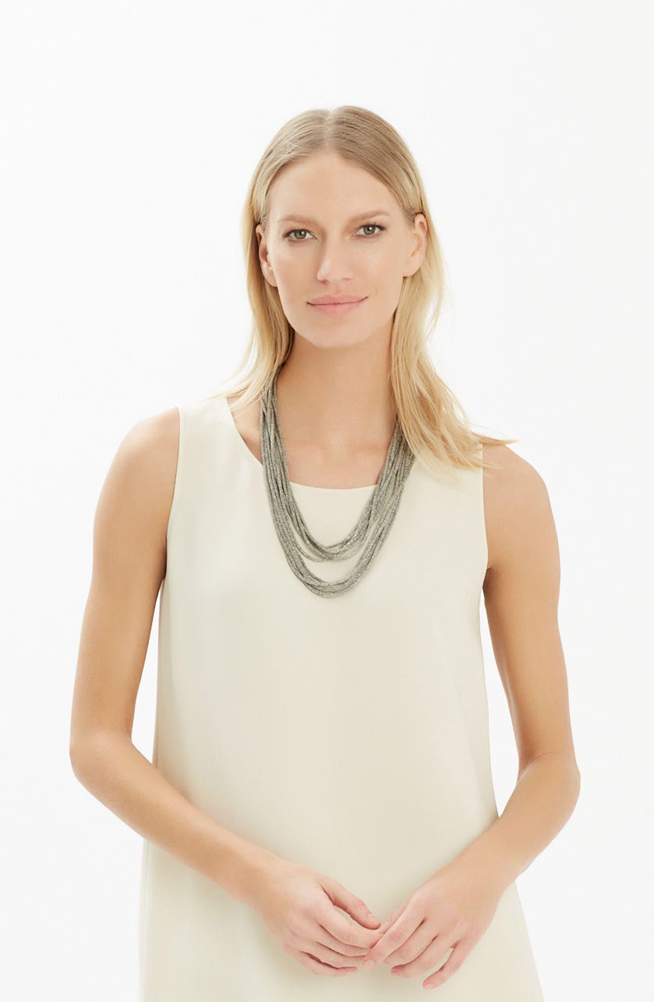 Alternate Image 3  - Lafayette 148 New York Mesh Chain Multistrand Necklace