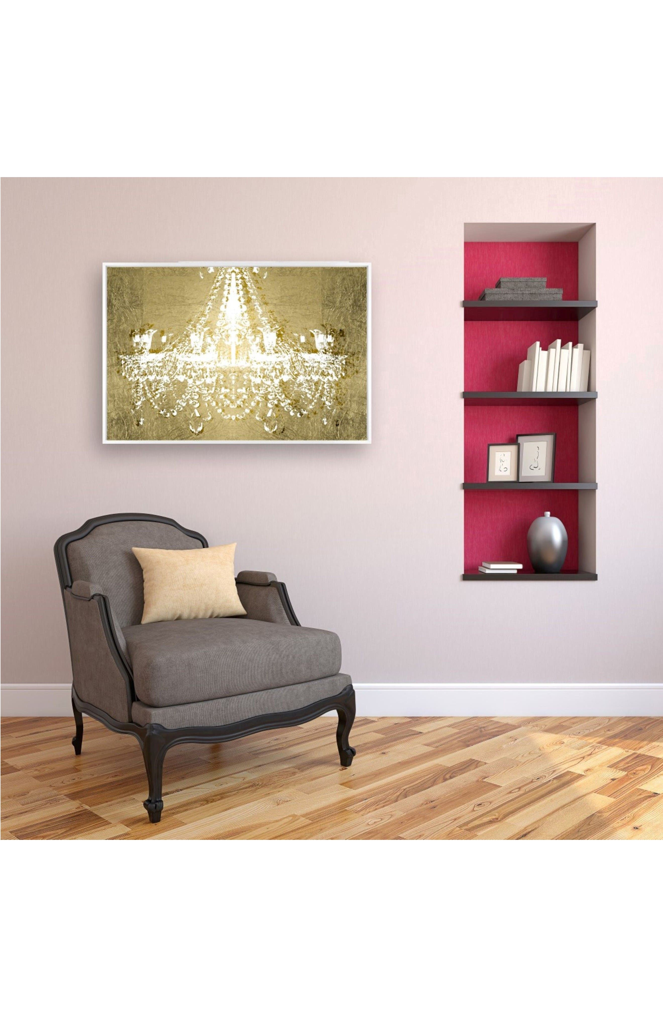 Dramatic Entrance Canvas Wall Art,                             Alternate thumbnail 2, color,                             Metallic Gold