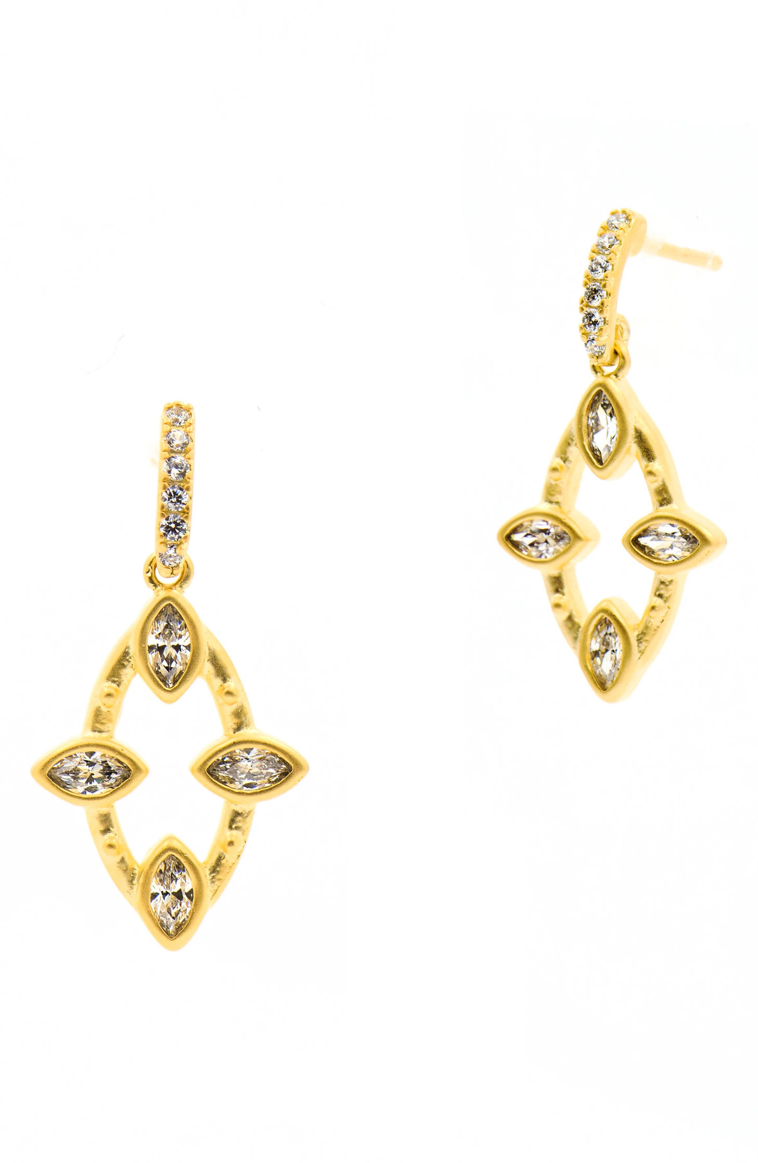 Amazonian Allure Marquise Drop Earrings,                         Main,                         color, Gold