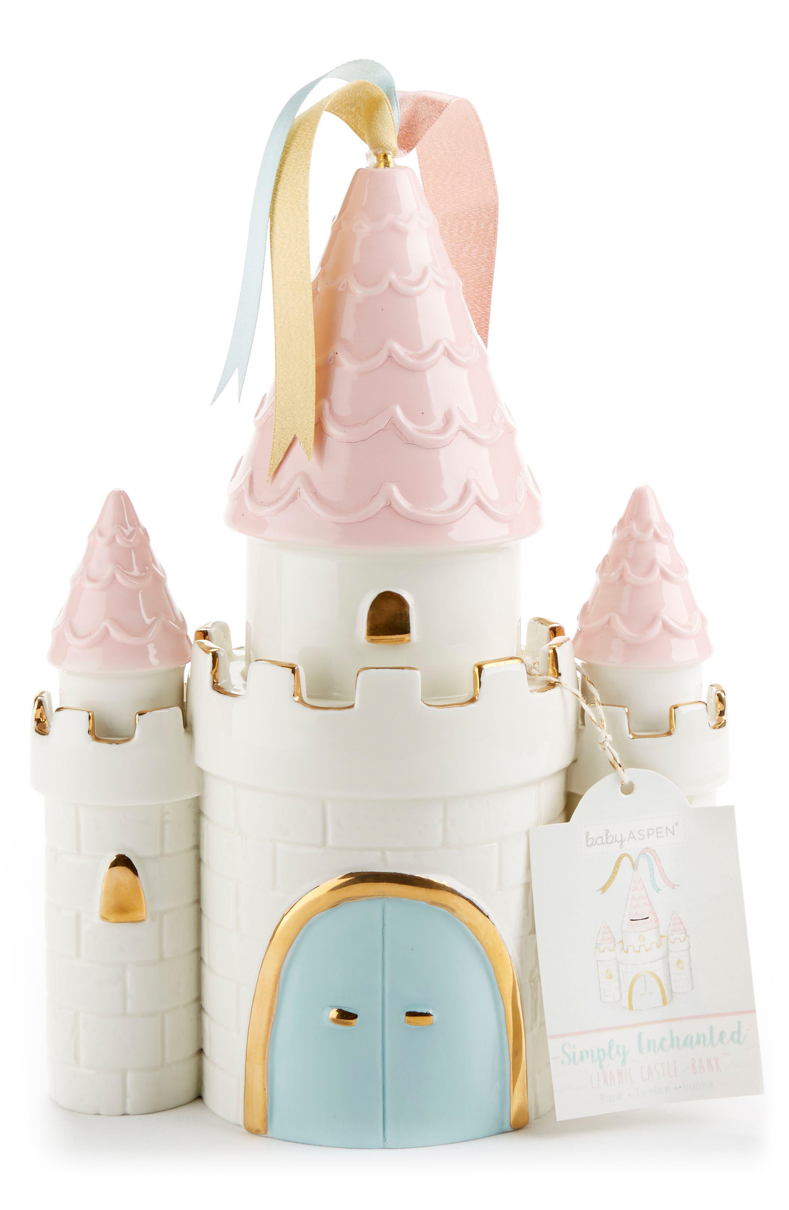 Baby Aspen Simply Enchanted Ceramic Castle Bank