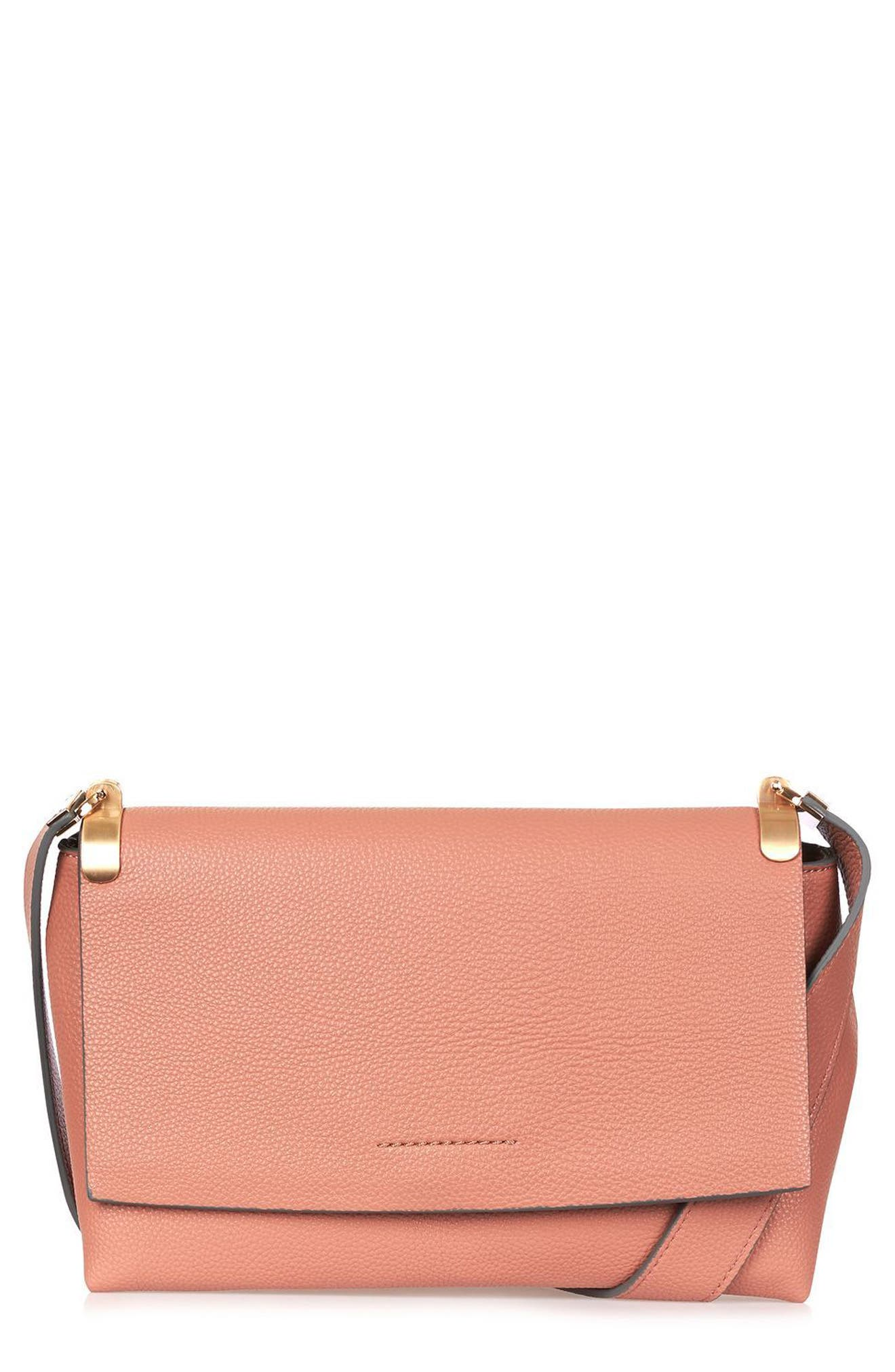 Olney Faux Leather Crossbody,                             Main thumbnail 1, color,                             Pink