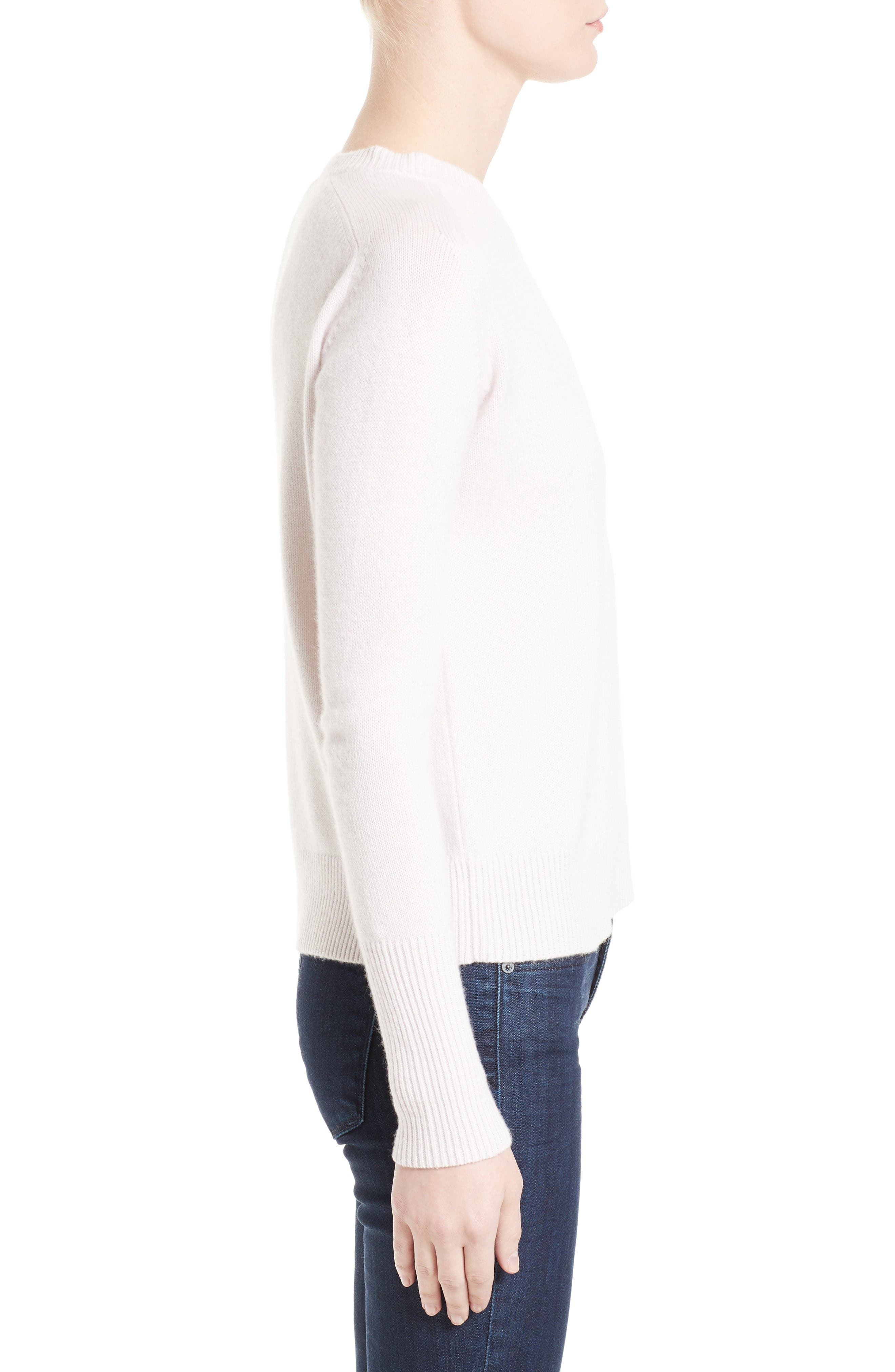 Cashmere Sweater,                             Alternate thumbnail 4, color,                             Butter