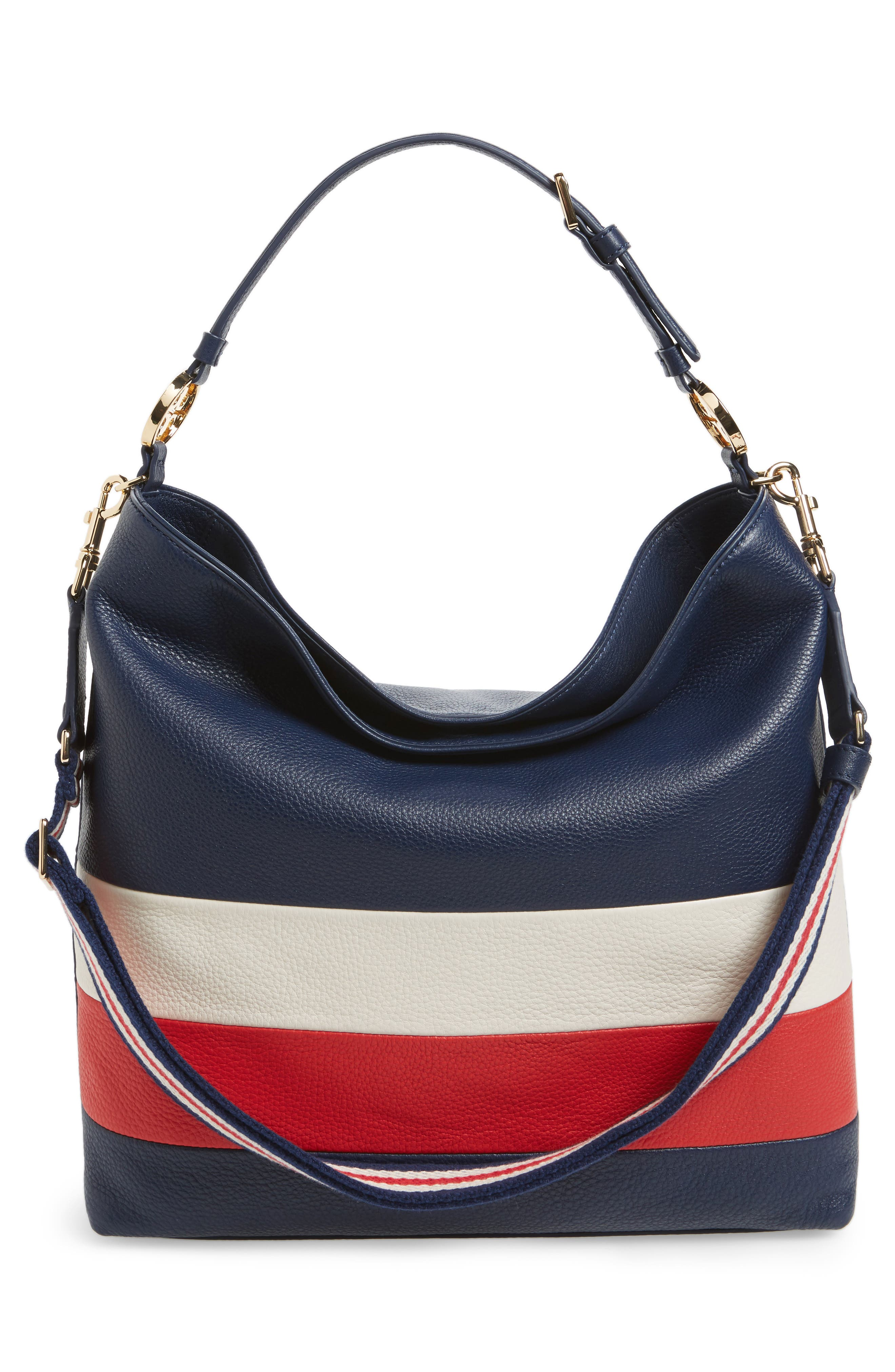 Alternate Image 3  - Tory Burch Stripe Duet Leather Hobo