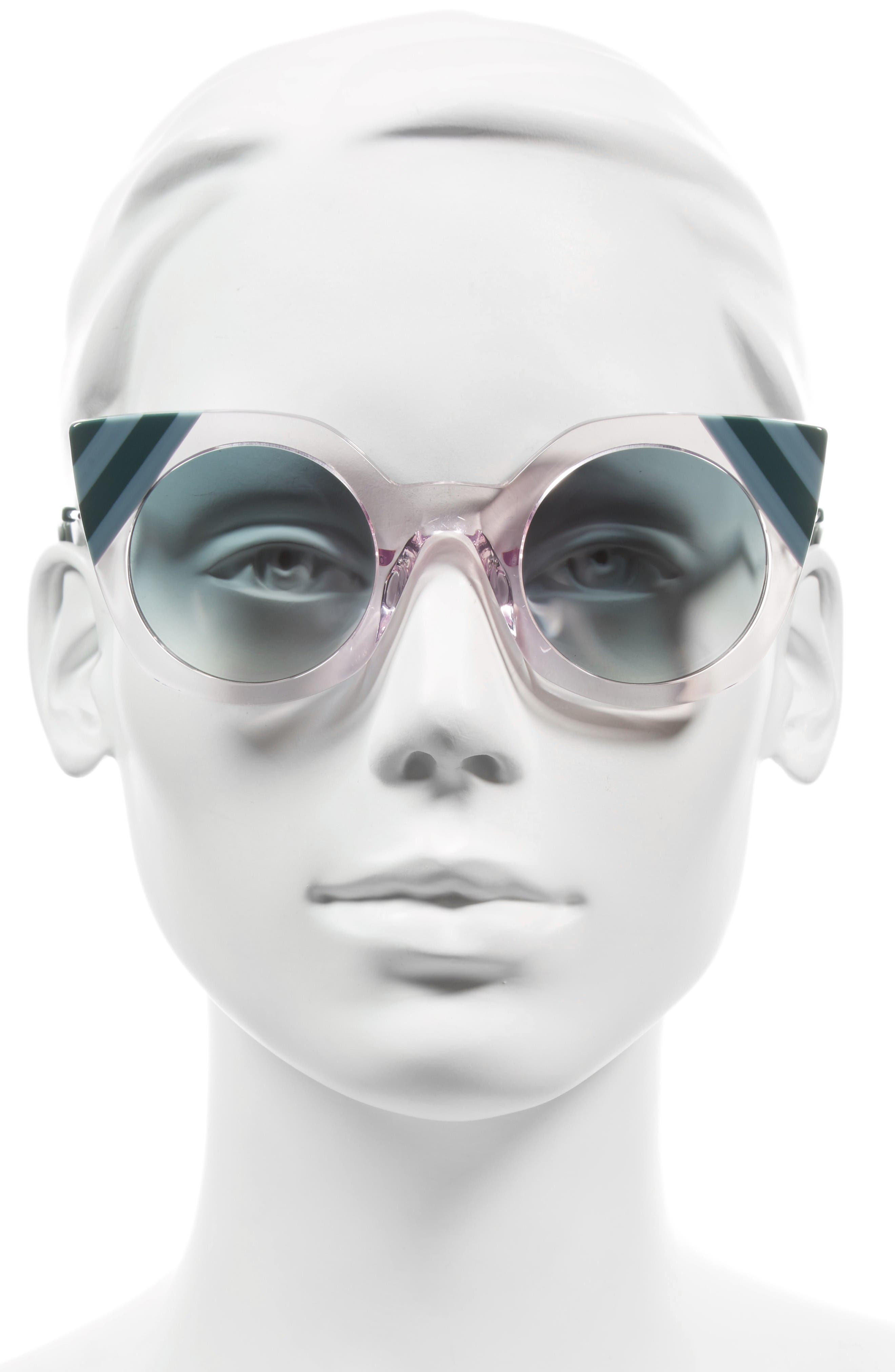 47mm Cat Eye Sunglasses,                             Alternate thumbnail 2, color,                             Pink