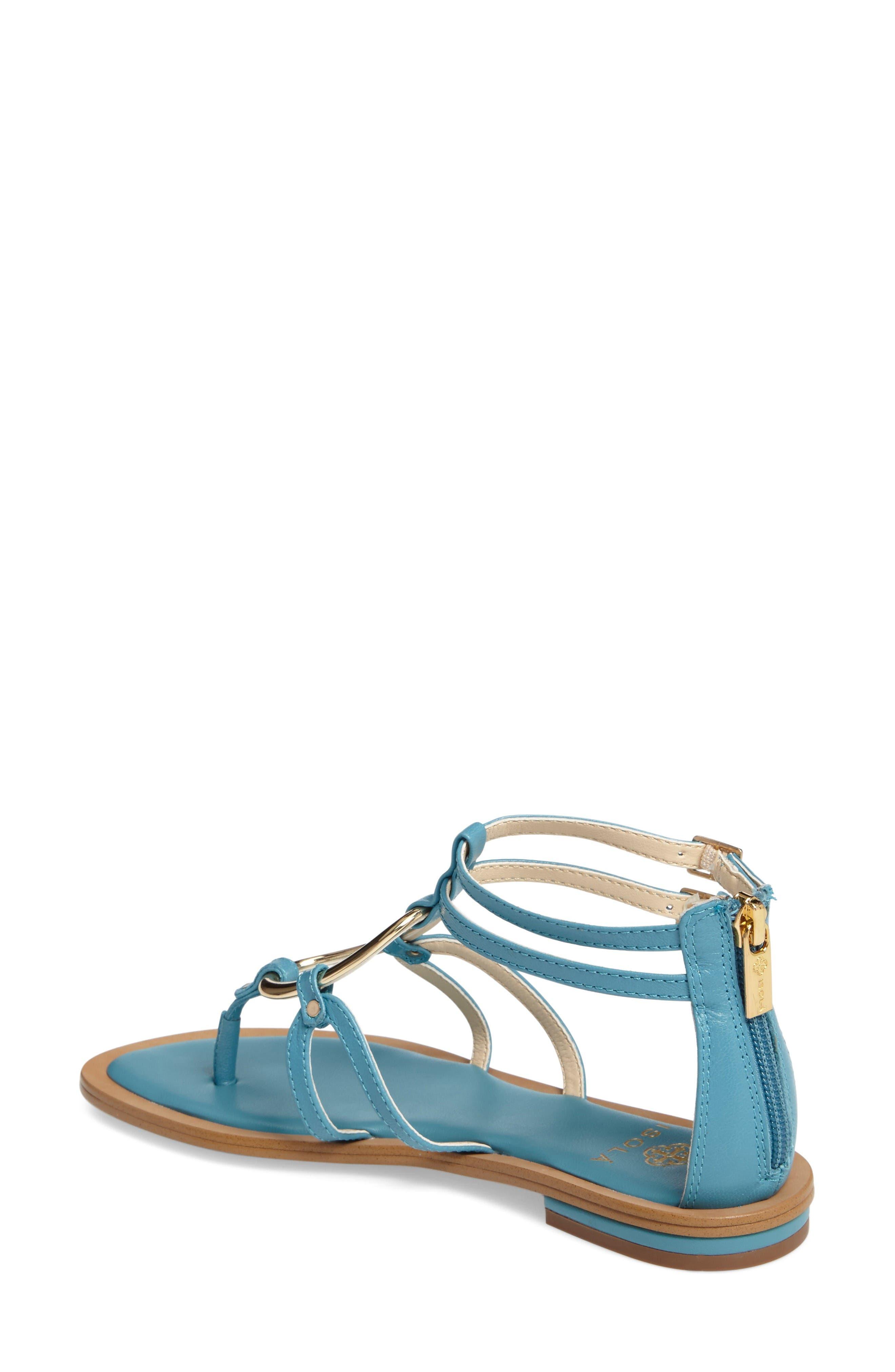 Melaney Sandal,                             Alternate thumbnail 2, color,                             Aqua Leather