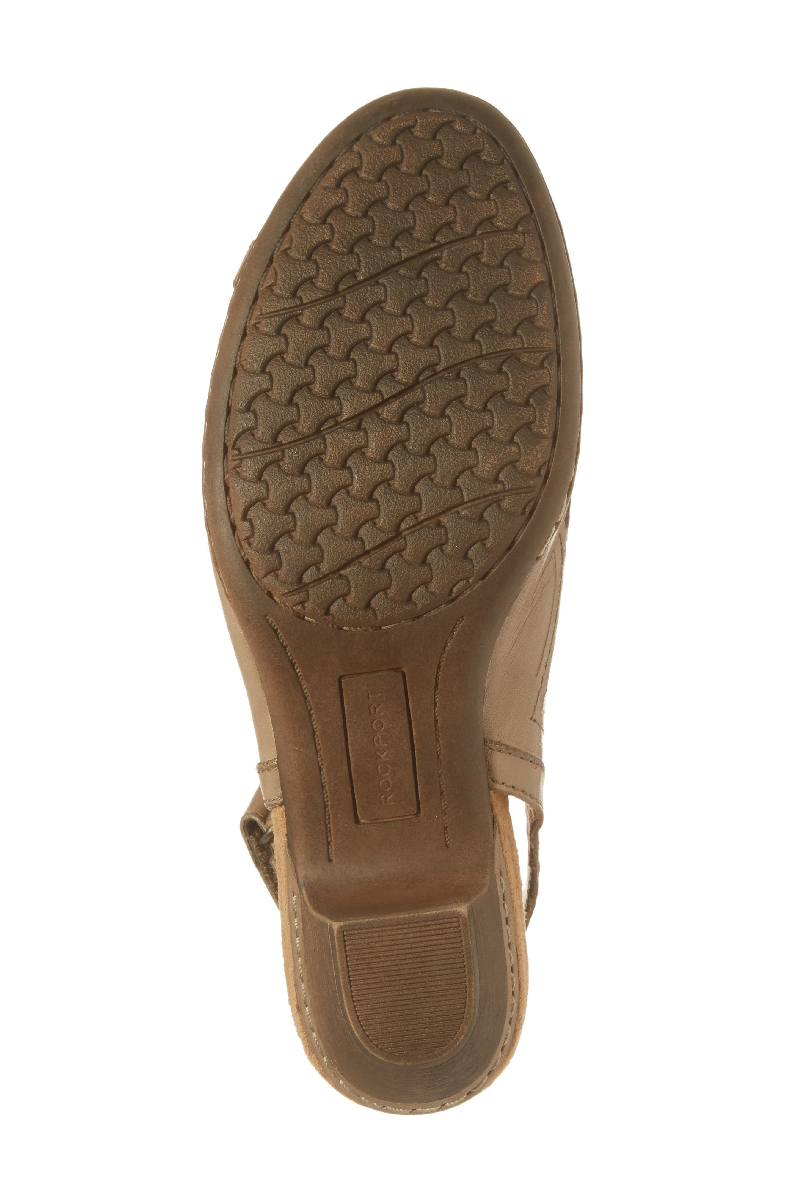 Abbott Slingback Sandal,                             Alternate thumbnail 6, color,                             Khaki Leather