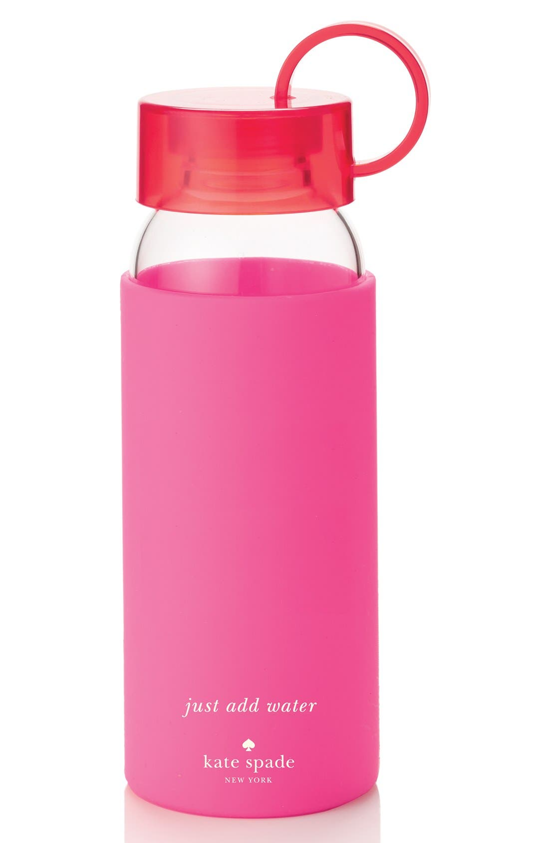 Main Image - kate spade new york glass & silicone water bottle (16 oz.)