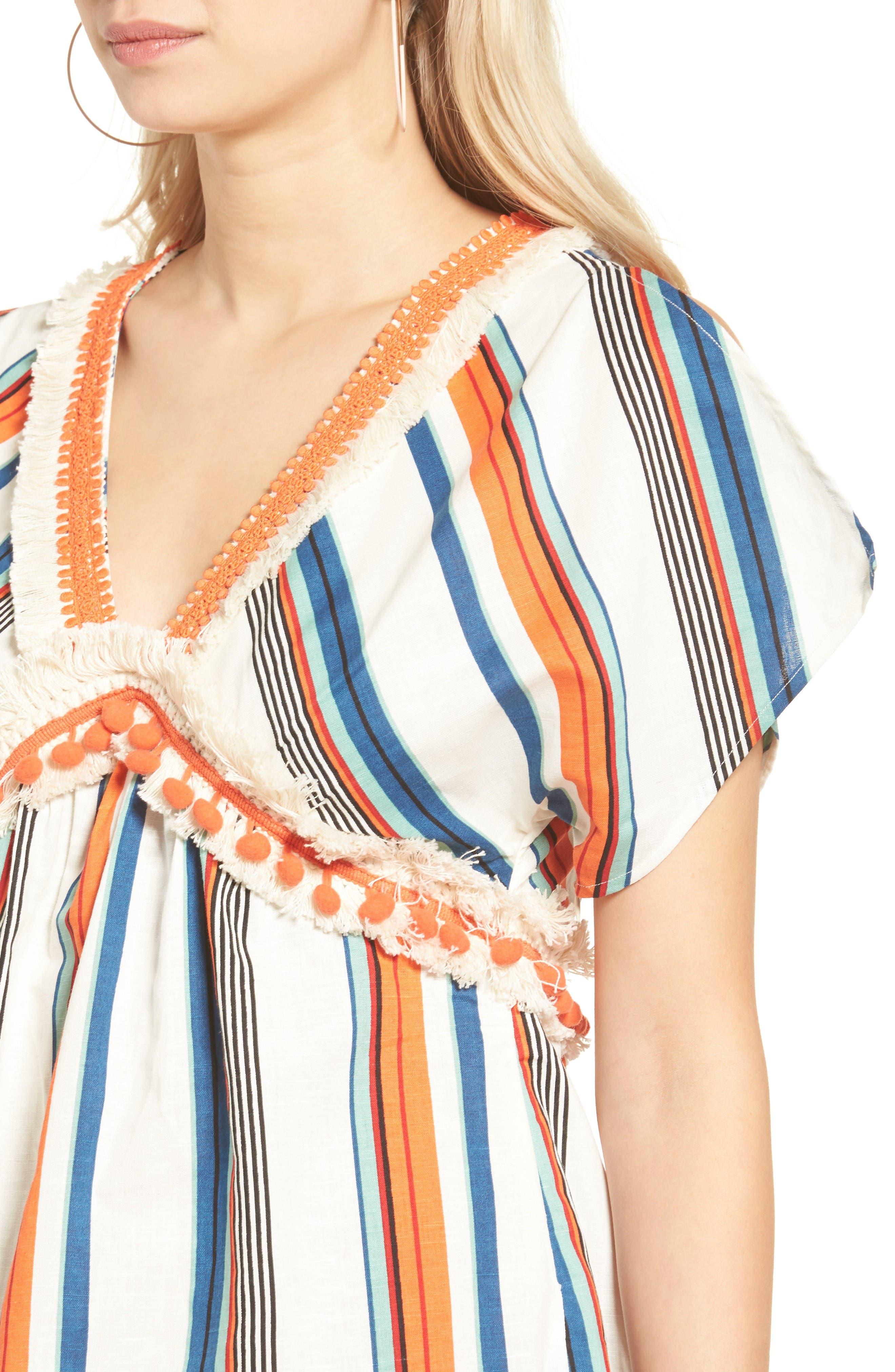 Alternate Image 5  - MOON RIVER Stripe Linen & Cotton Dress