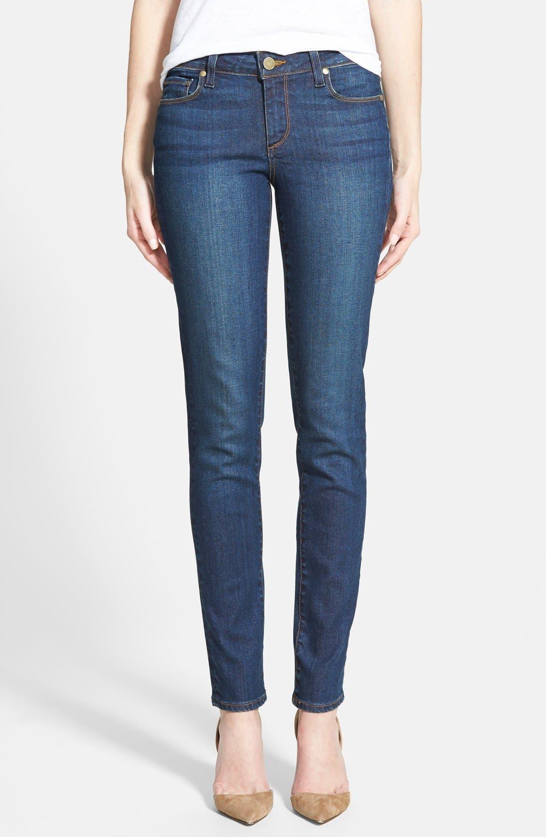 Alternate Image 1 Selected - Paige Denim 'Skyline' Skinny Jeans (Mischa Blue)